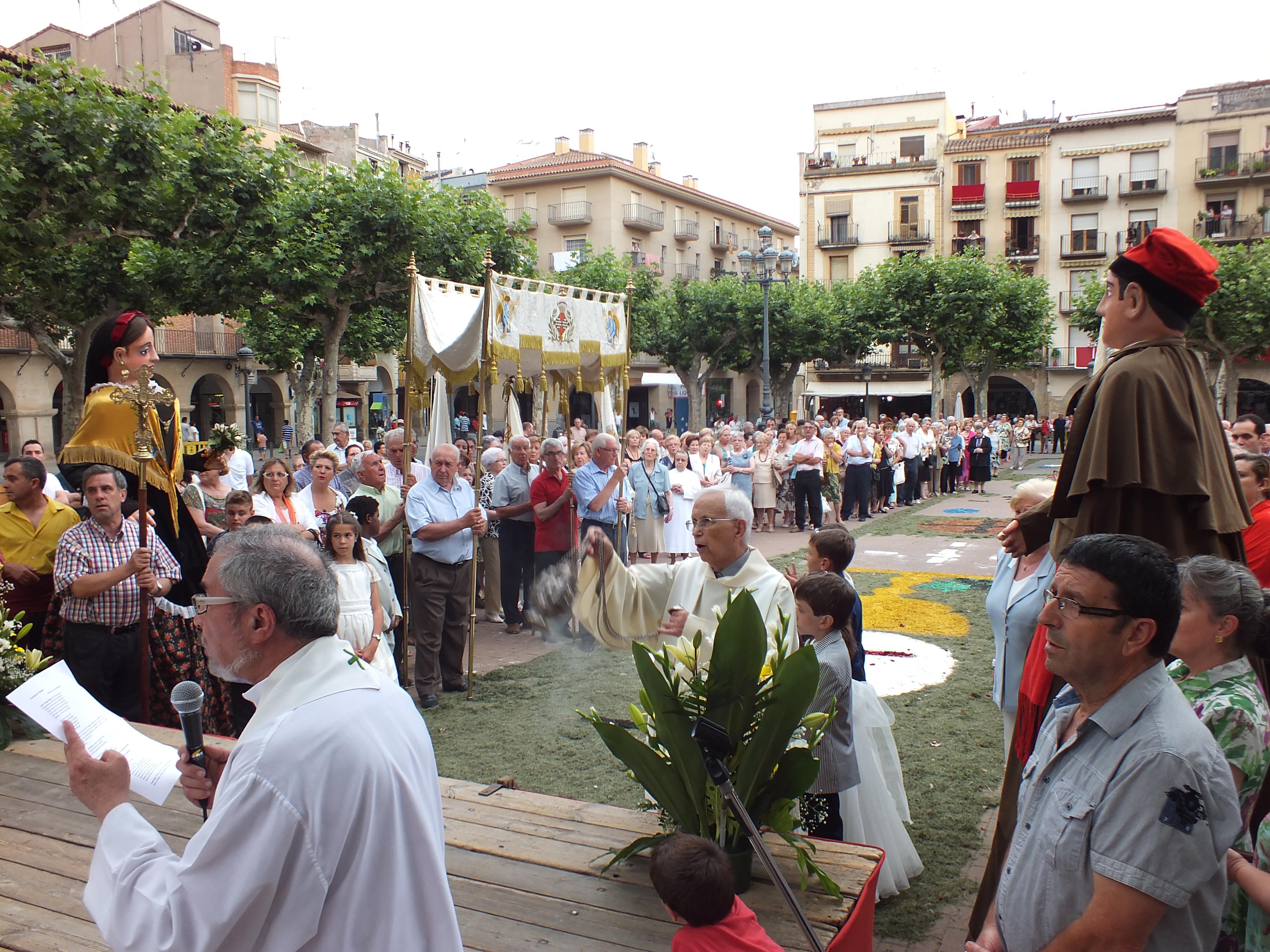 Tàrrega commemora en el marc del Corpus els 50 anys de la construcció de l'Església del Cor de Maria