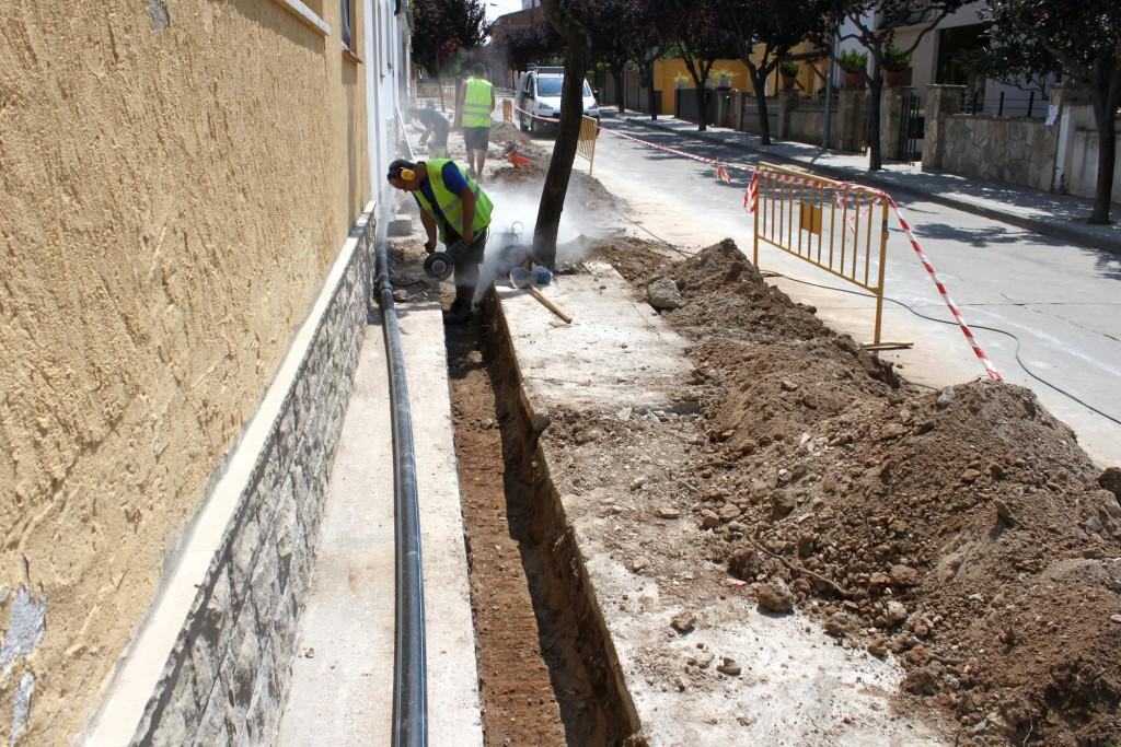 L'Ajuntament de Tàrrega culmina obres de renovació a la xarxa d'aigua de boca