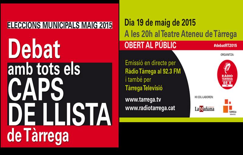 Segueix en Streaming a Tàrrega Televisió el debat electoral de Ràdio Tàrrega des de l'Ateneu