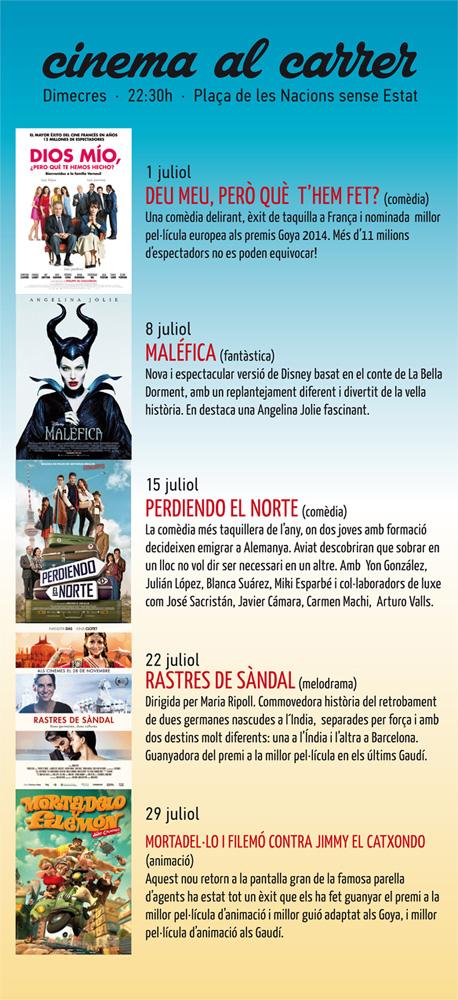 Cinema al Carrer 2015  Tàrrega