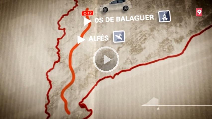El Carreteres sobre la C-12 fa parada a Os de Balaguer, a Alfés i a Flix