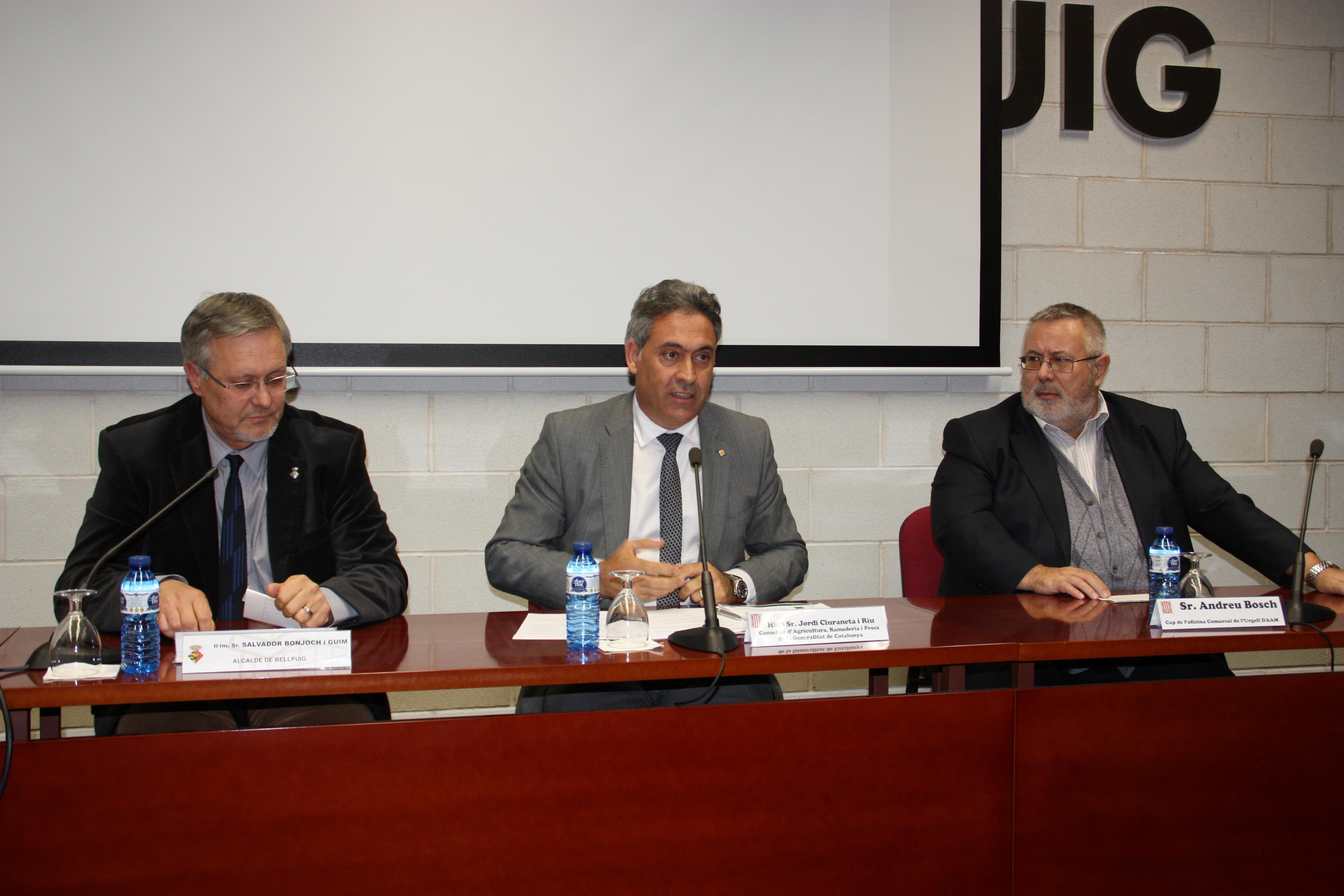 El conseller d'Agricultura Jordi Ciuraneta clou les Jornades Tècniques de la XXIX Setmana Agrària de Bellpuig