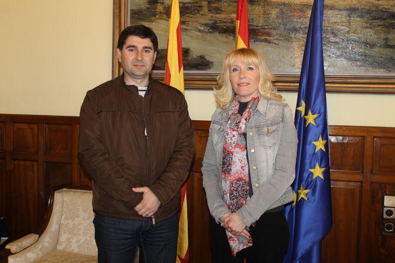 Trobada entre la subdelegada del govern central i l'alcalde de Ciutadilla per trobar finançament pels desperfectes després de les pluges del passat novembre