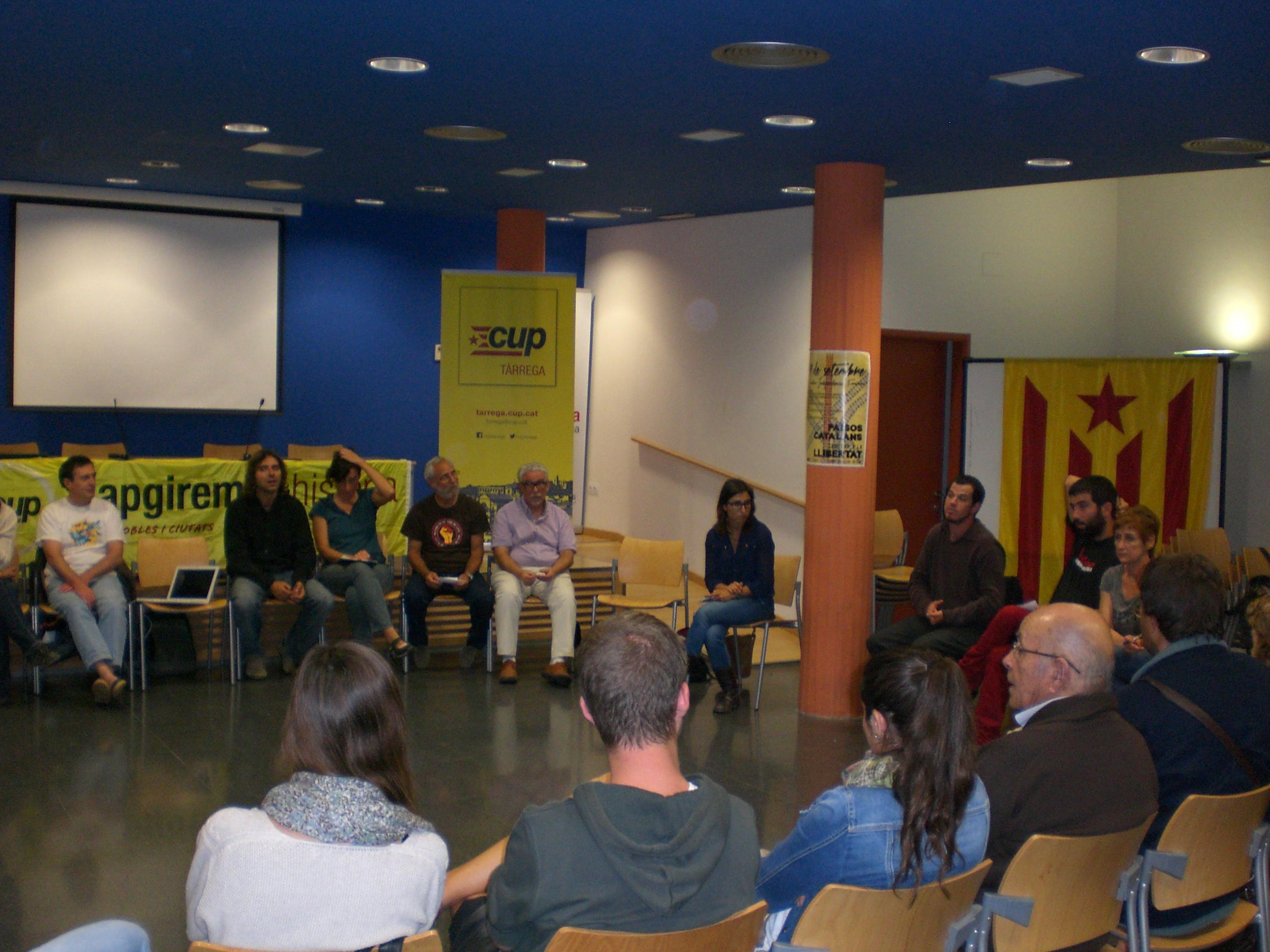 La CUP de Tàrrega organitza un acte per tractar temes del Ple fora de l'ajuntament