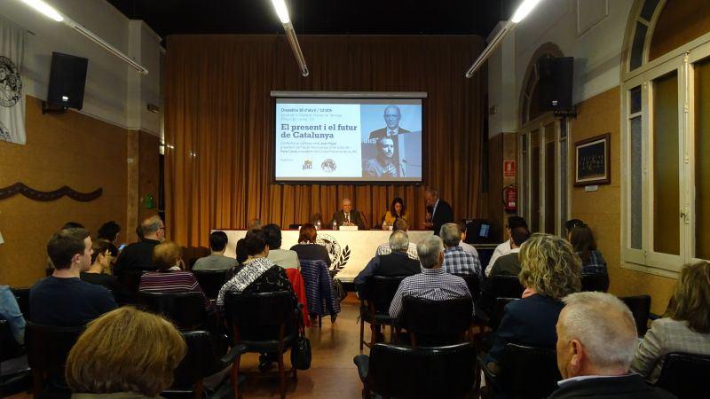 Joan Rigol parla d'ètica política en una conferència  a Tàrrega