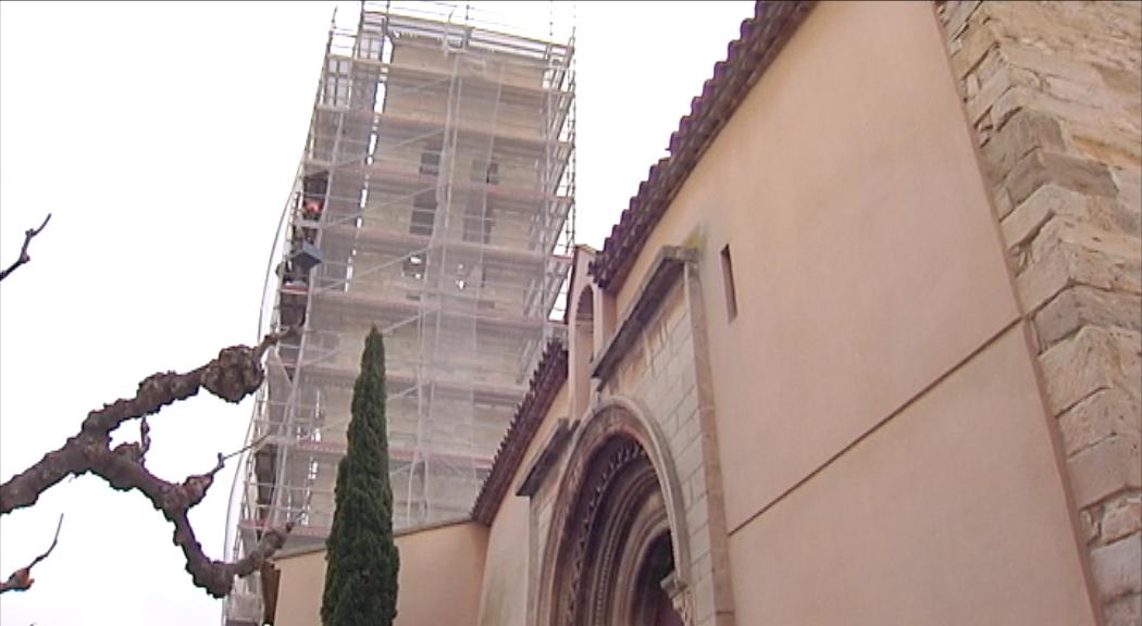 L'INCASÒL finalitza la restauració del campanar de l'església de Vilagrassa