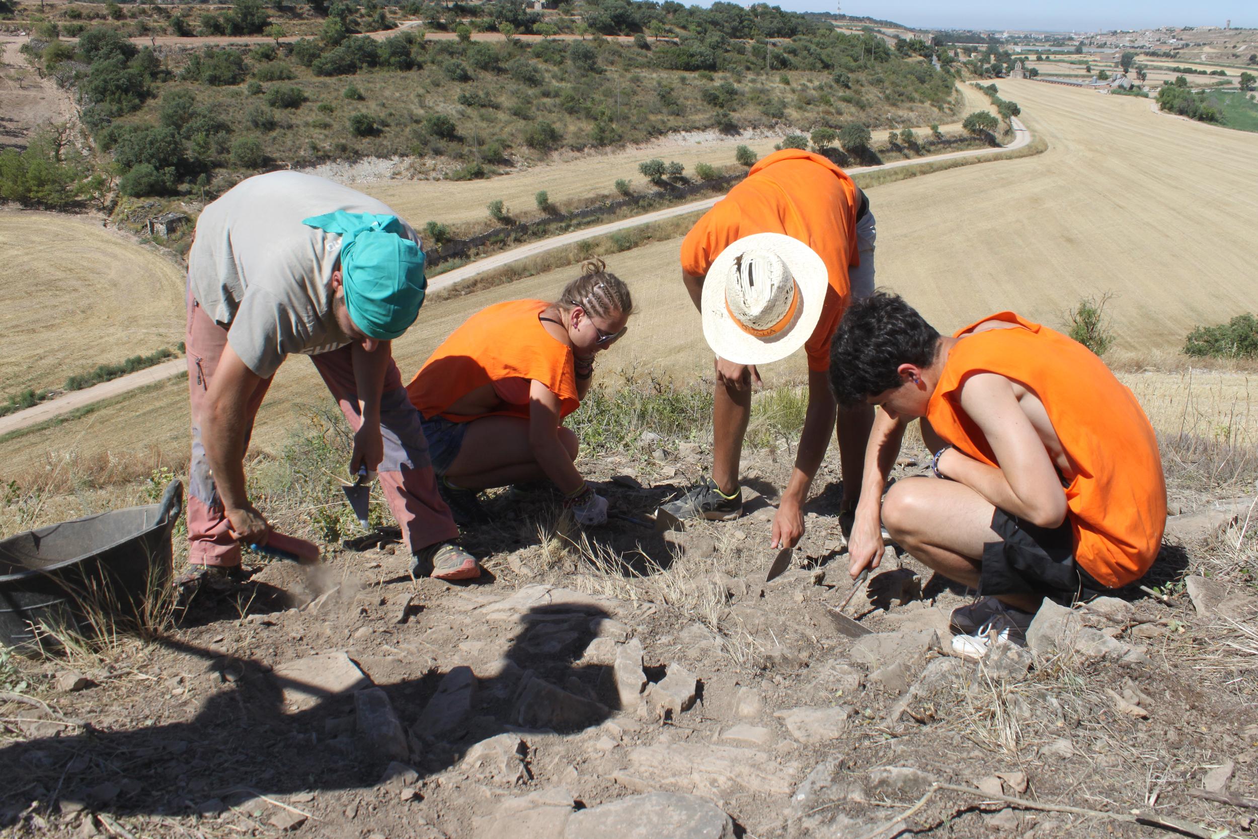 El camp de treball d'arqueologia al Pla de les Tenalles, jaciment ibèric de Tàrrega, aporta dades sobre l'estructura defensiva del poblat