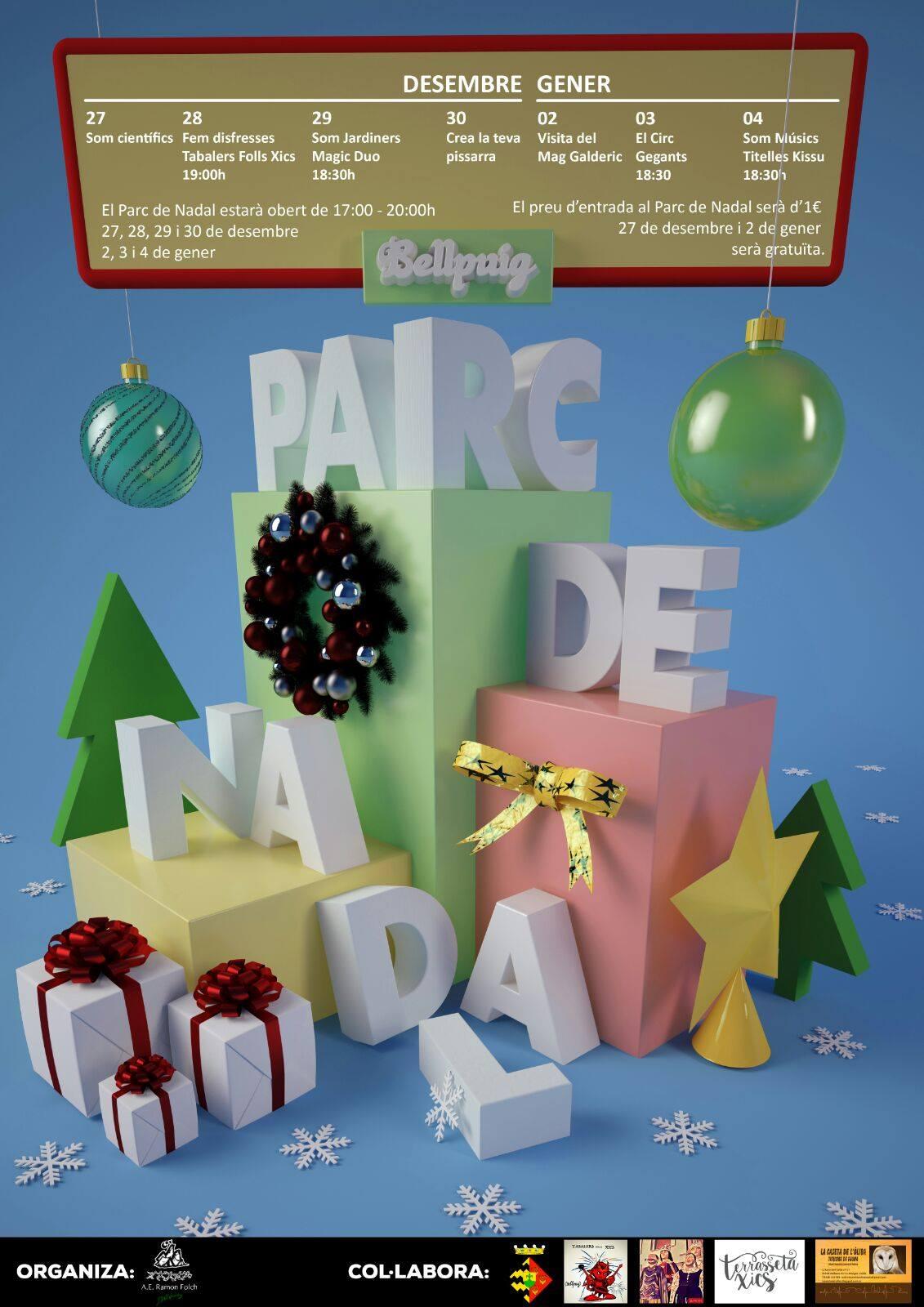 """Dimarts obre el """"Parc de Nadal"""" de Bellpuig amb una àmplia programació de tallers, activitats i espectacles"""