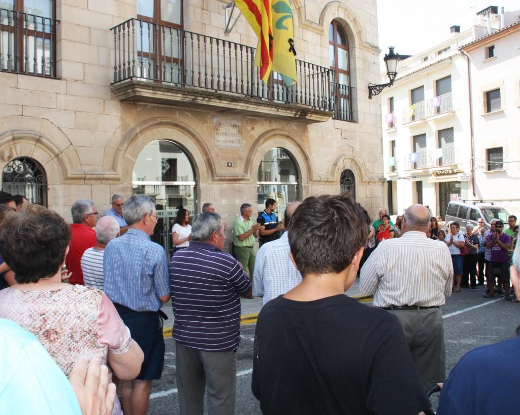 Concentració atemptats Barcelona i Cambrils a Bellpuig