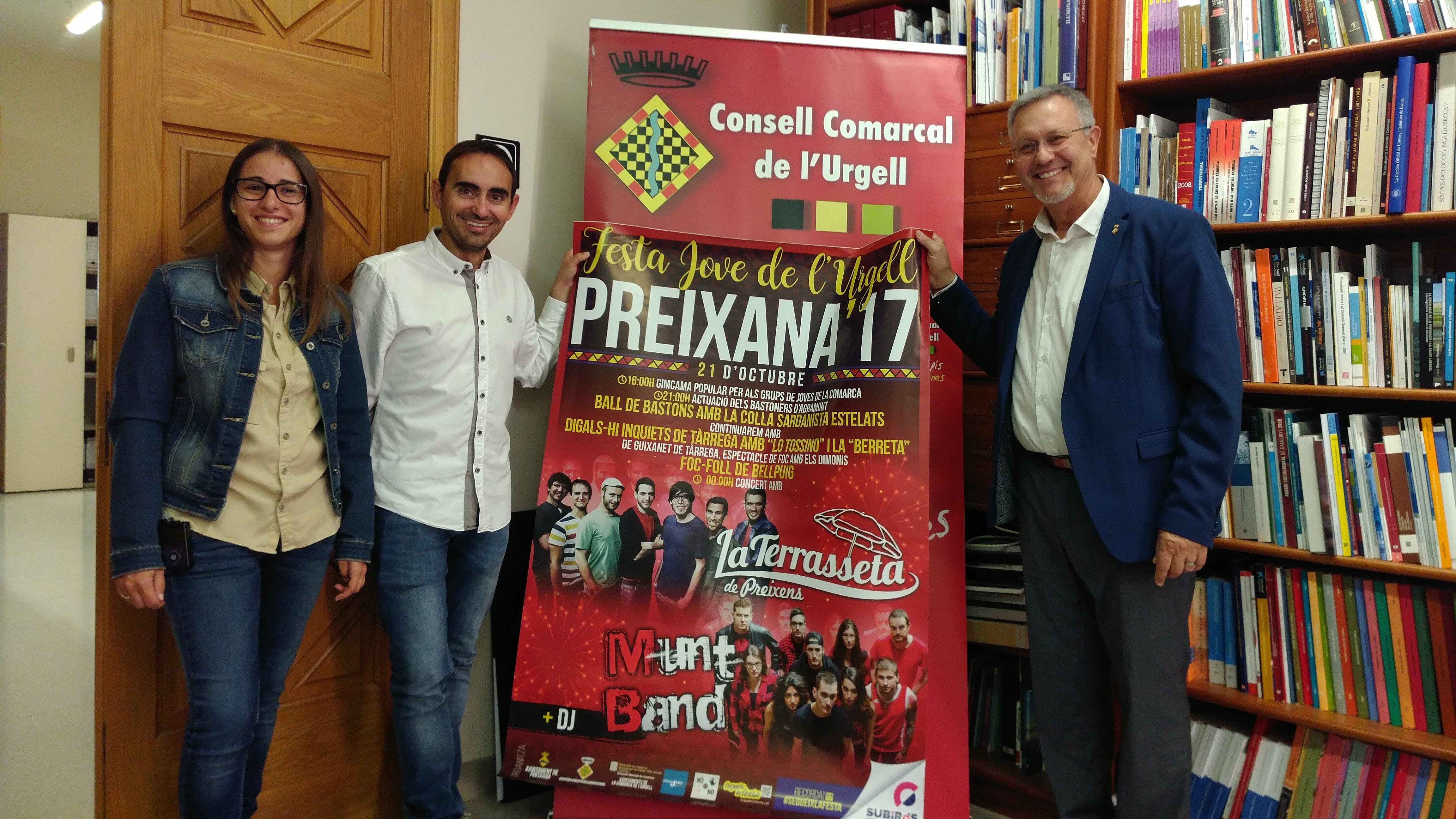 Preixana acollirà la 3a Festa de l'Urgell amb el concert de La Terrasseta de Preixens i Munt Band