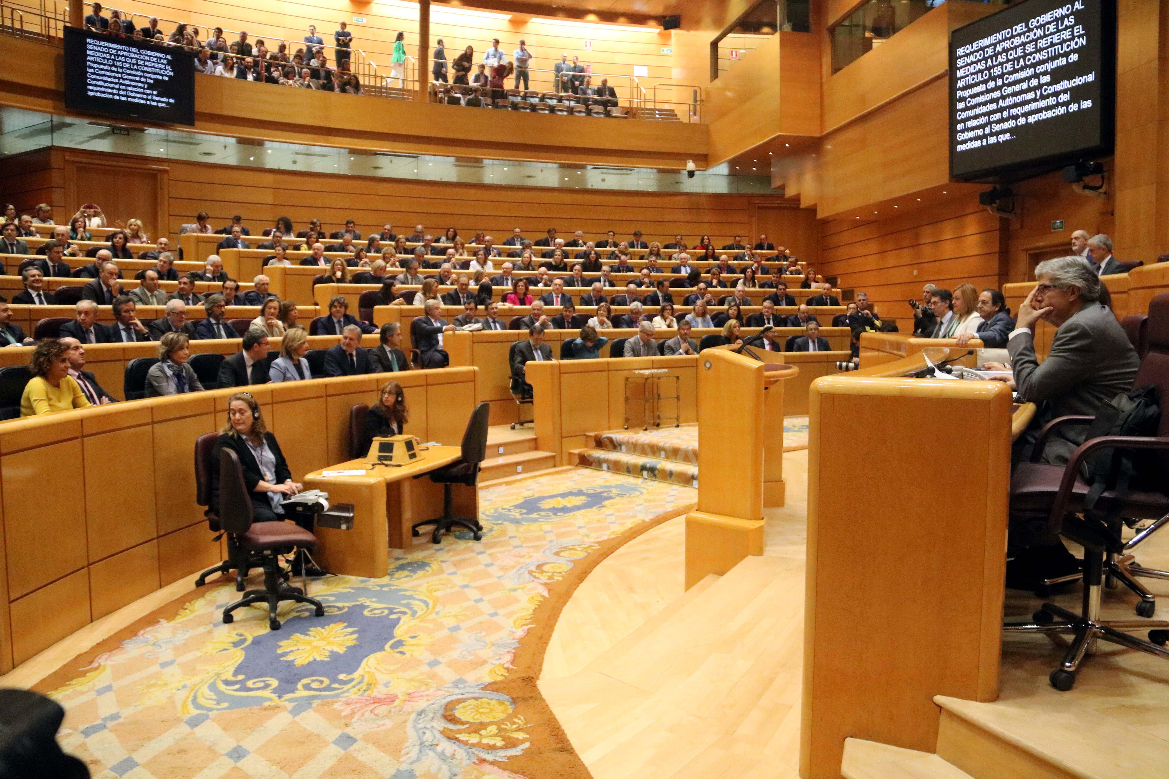 El Senat aprova el permís al govern espanyol per aplicar l'article 155 amb 214 vots a favor, 47 en contra i una abstenció