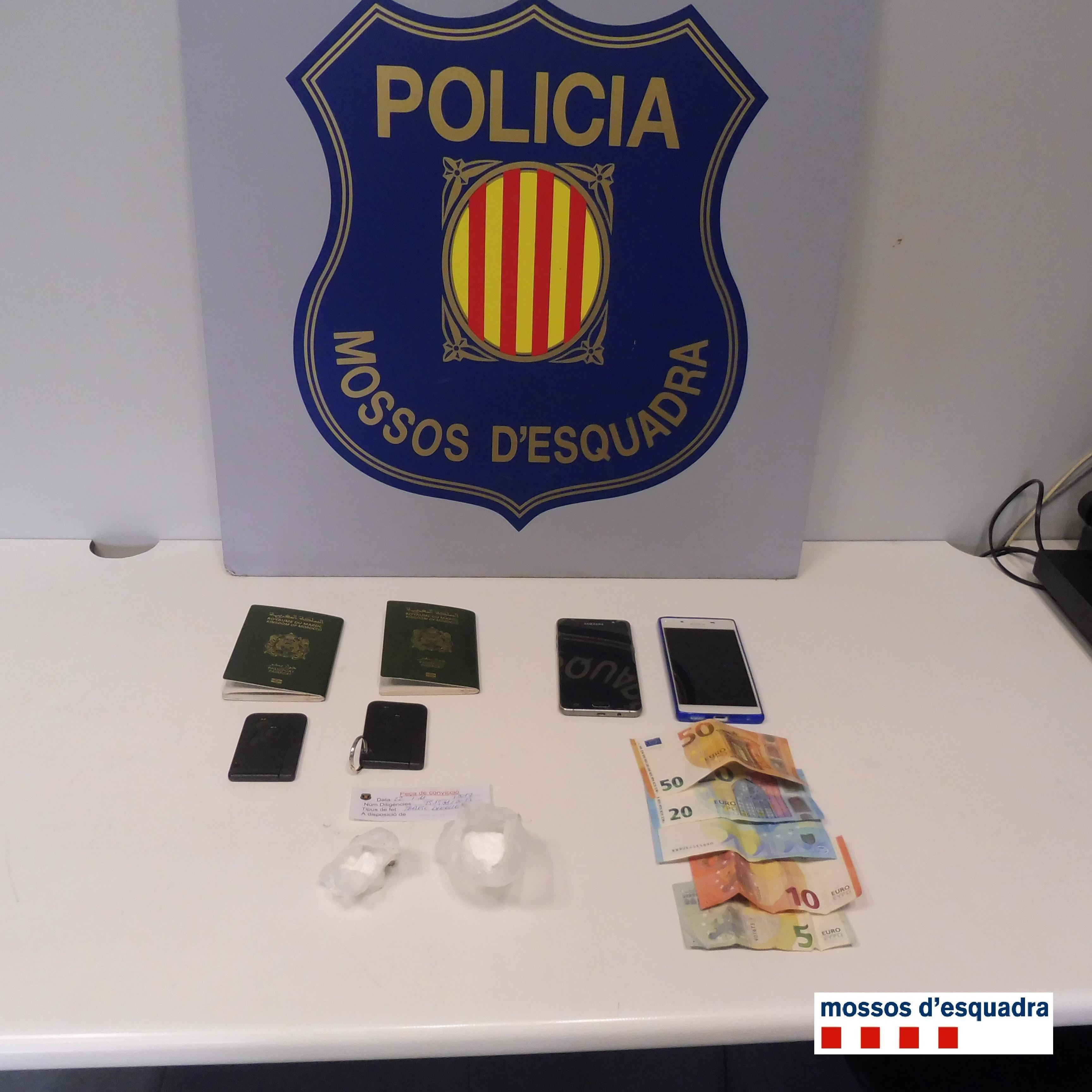 Els Mossos d'Esquadra detenen dues persones per tràfic de cocaïna a Agramunt (Urgell)