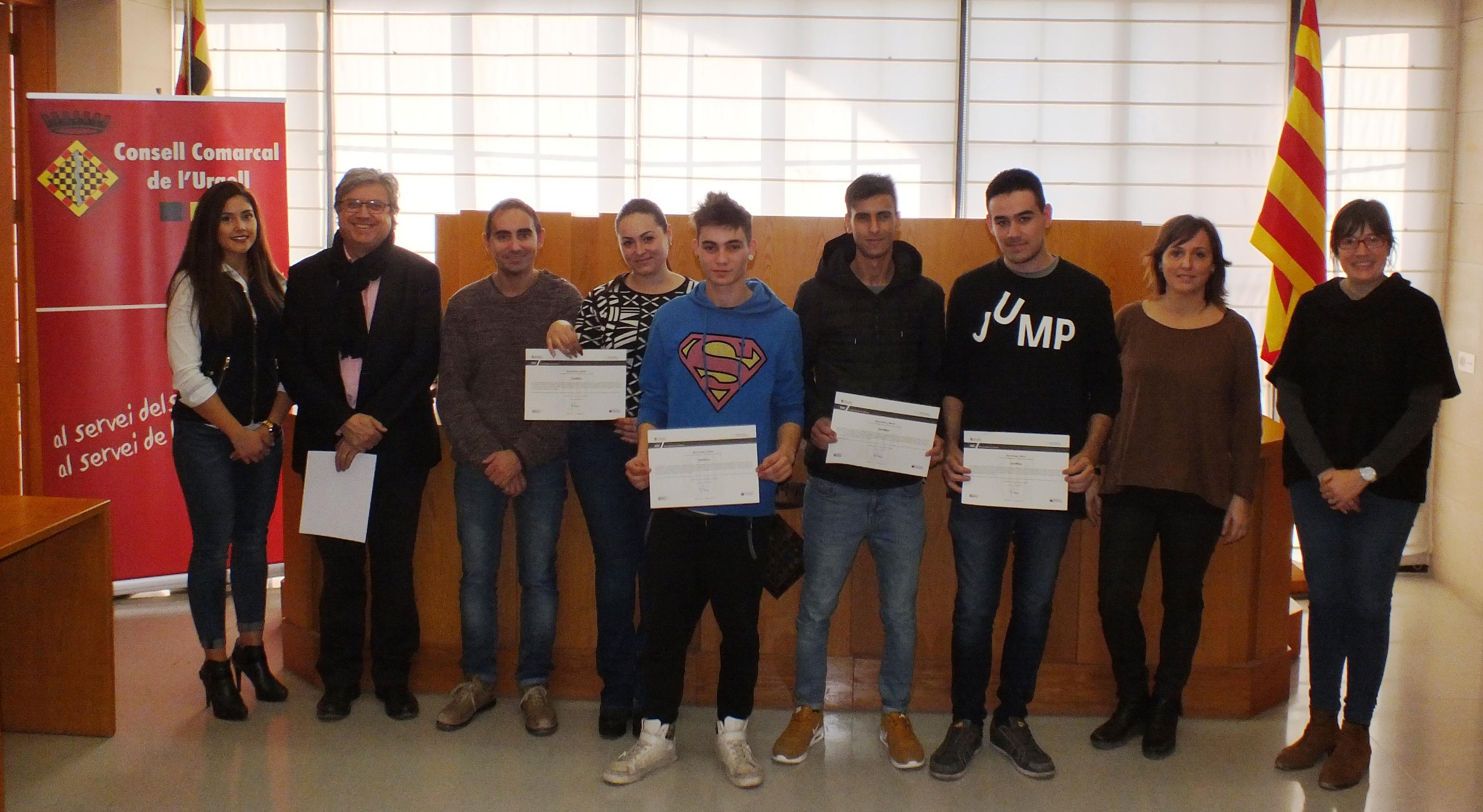 El programa Joves per a l'Ocupació forma a 21 joves de l'Urgell