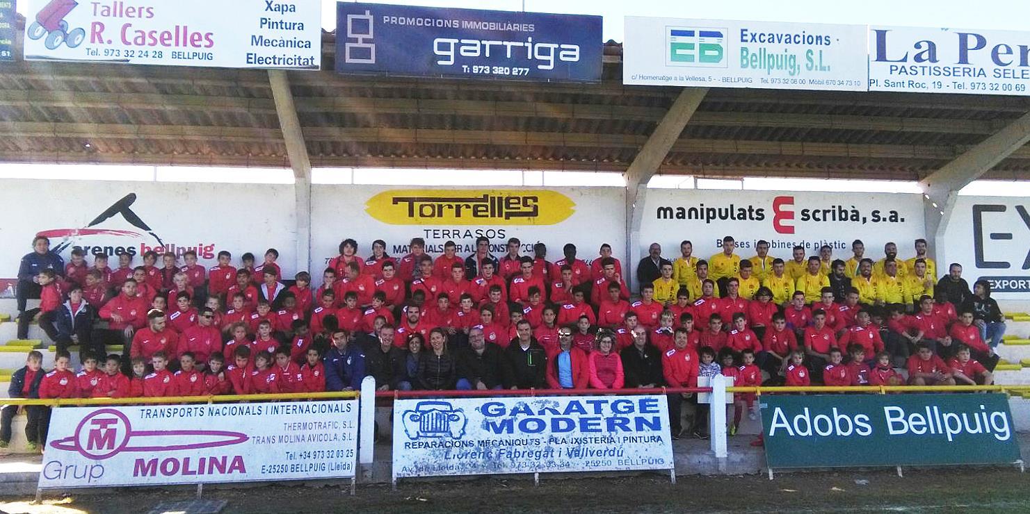 Bellpuig presenta els equips de l'Escola de Futbol  de la temporada 2017-2018
