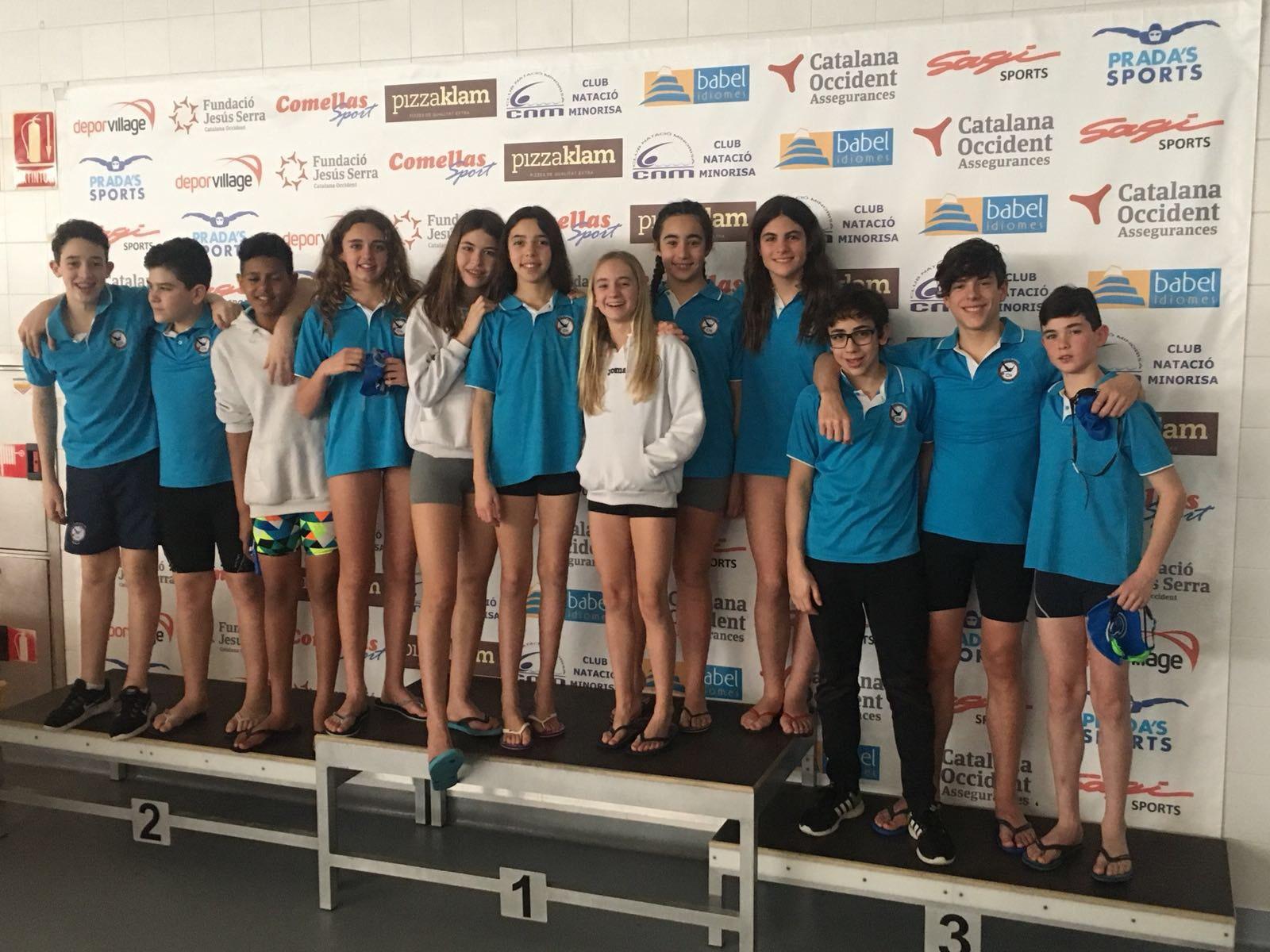 Brillant actuació de l'equip aleví del Club Natació Tàrrega a Manresa
