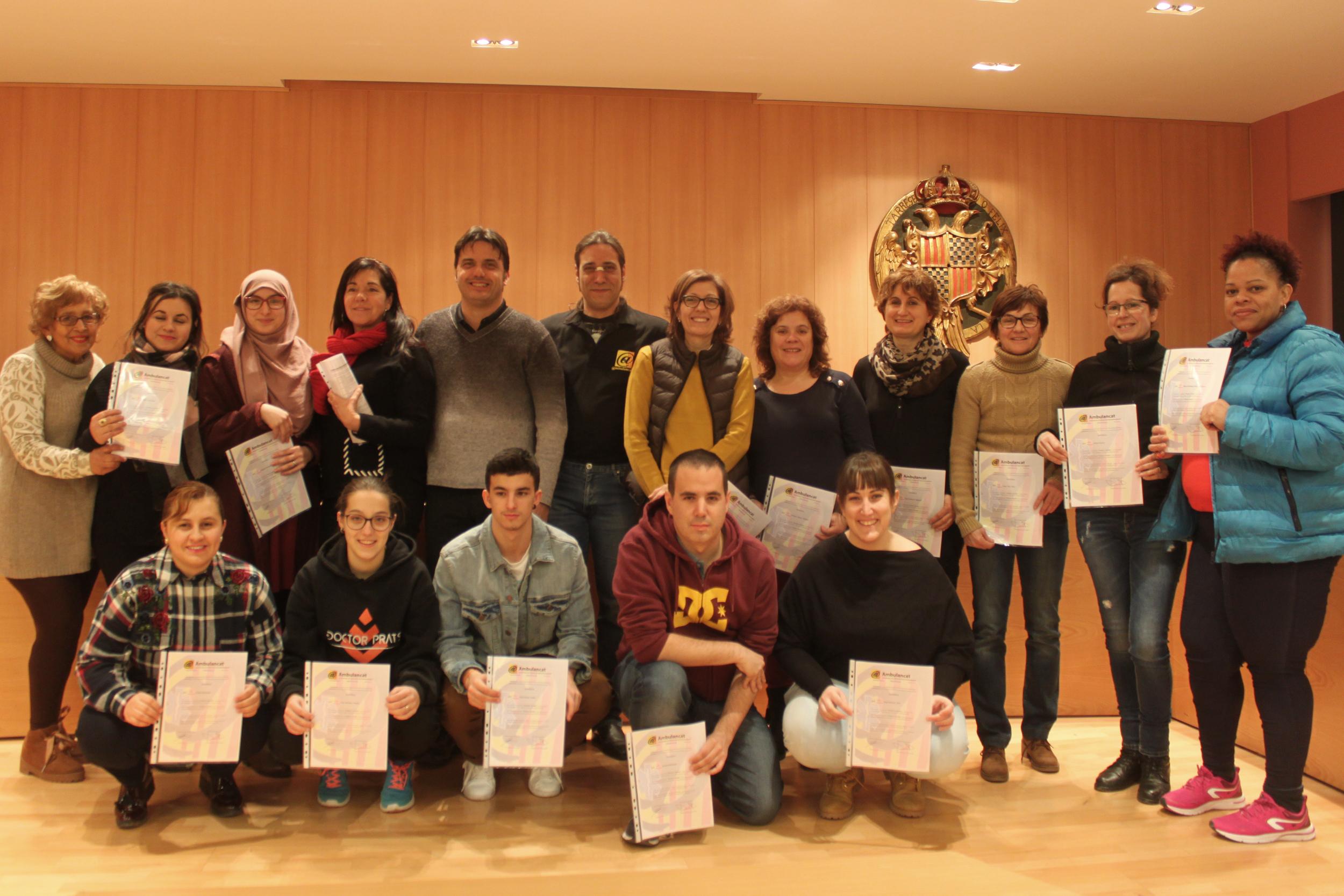 L'Ajuntament de Tàrrega entrega els diplomes del seu curs de primers auxilis per a professionals del món del lleure