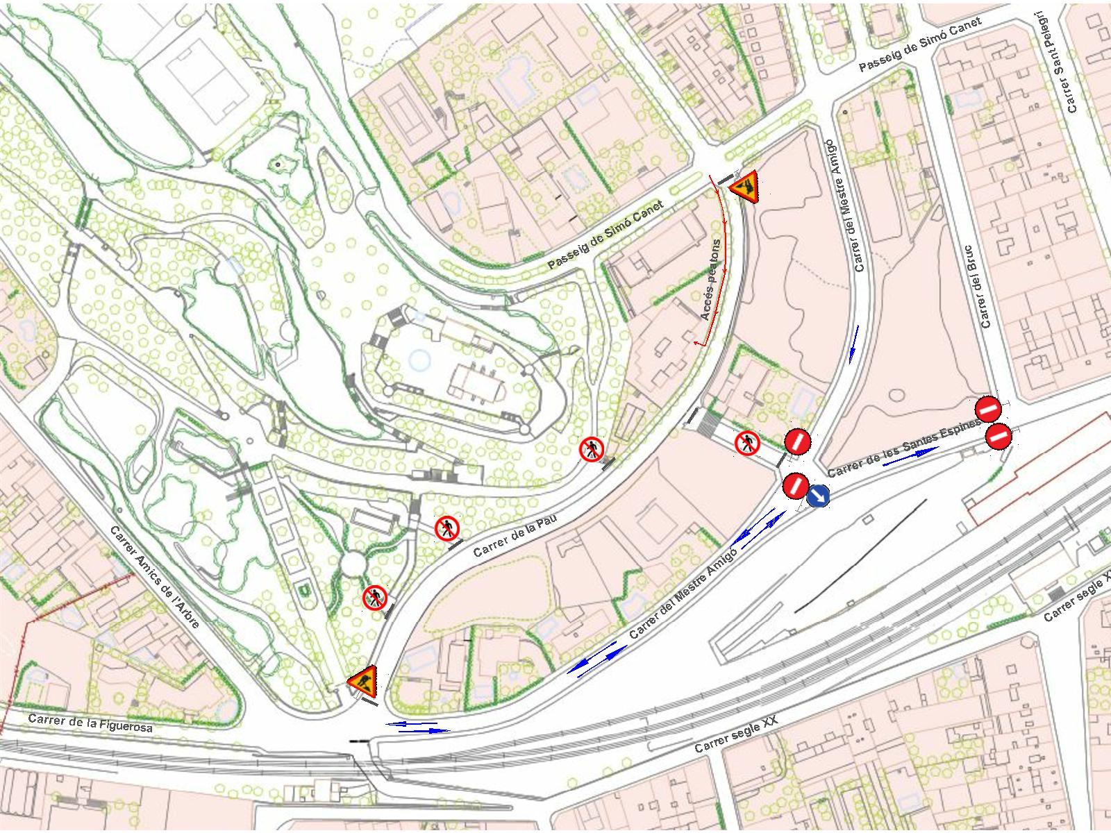 L'Ajuntament de Tàrrega inicia les obres de renovació del carrer de La Pau, les quals es desenvoluparan fins a mitjans de juny