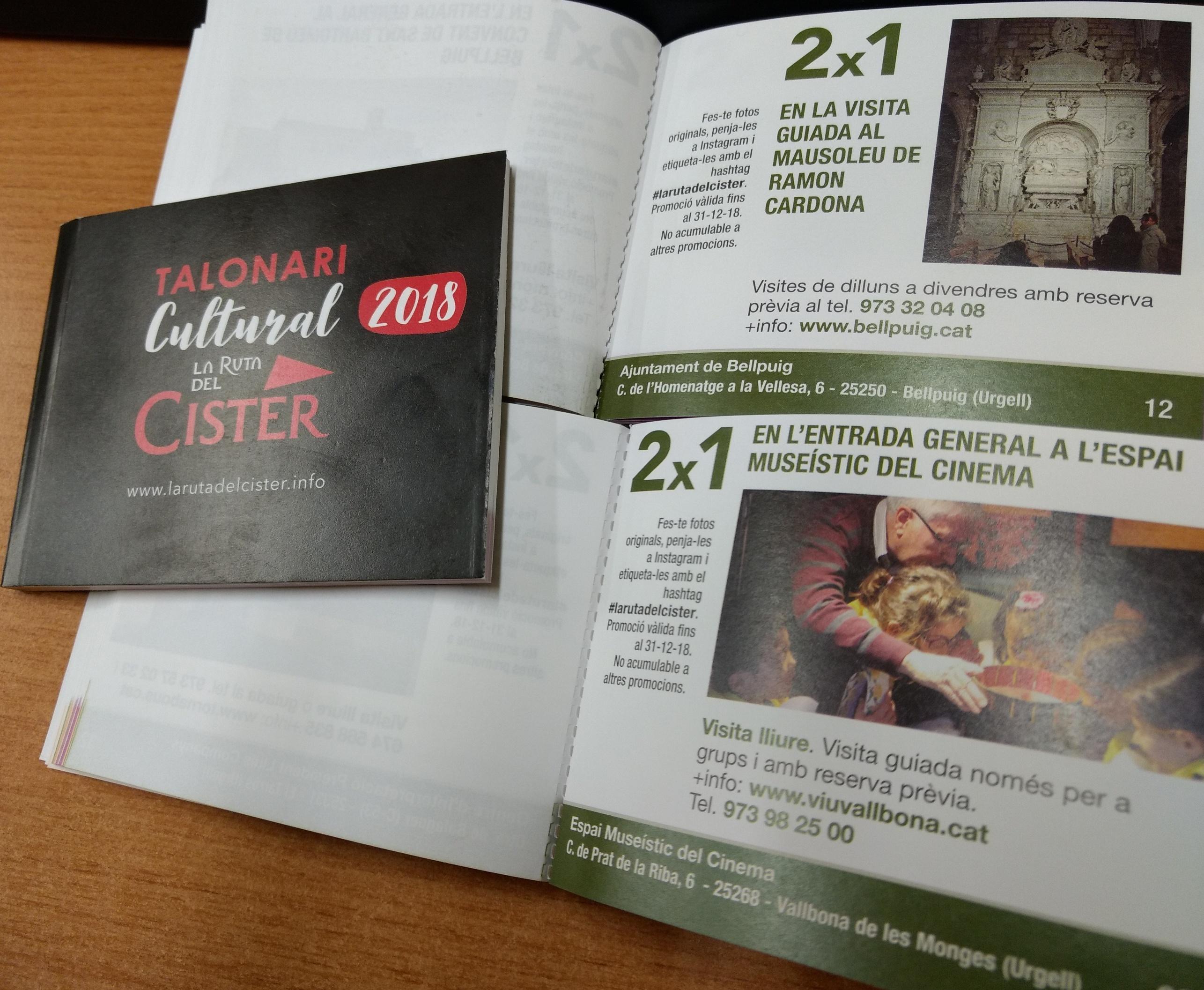 La Ruta del Cister estrena logotip i talonari cultural en motiu de l'Any del Turisme Cultural 2018