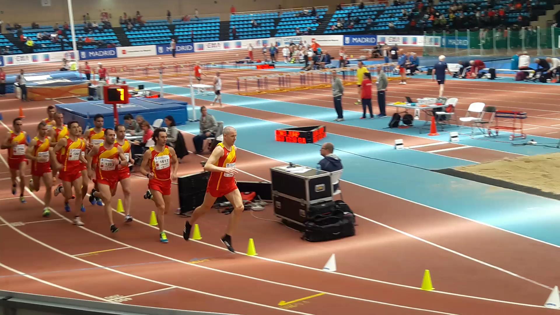 El targarí Josep Ramons Sanahuja  al campionat d'Europa d'atletisme Master