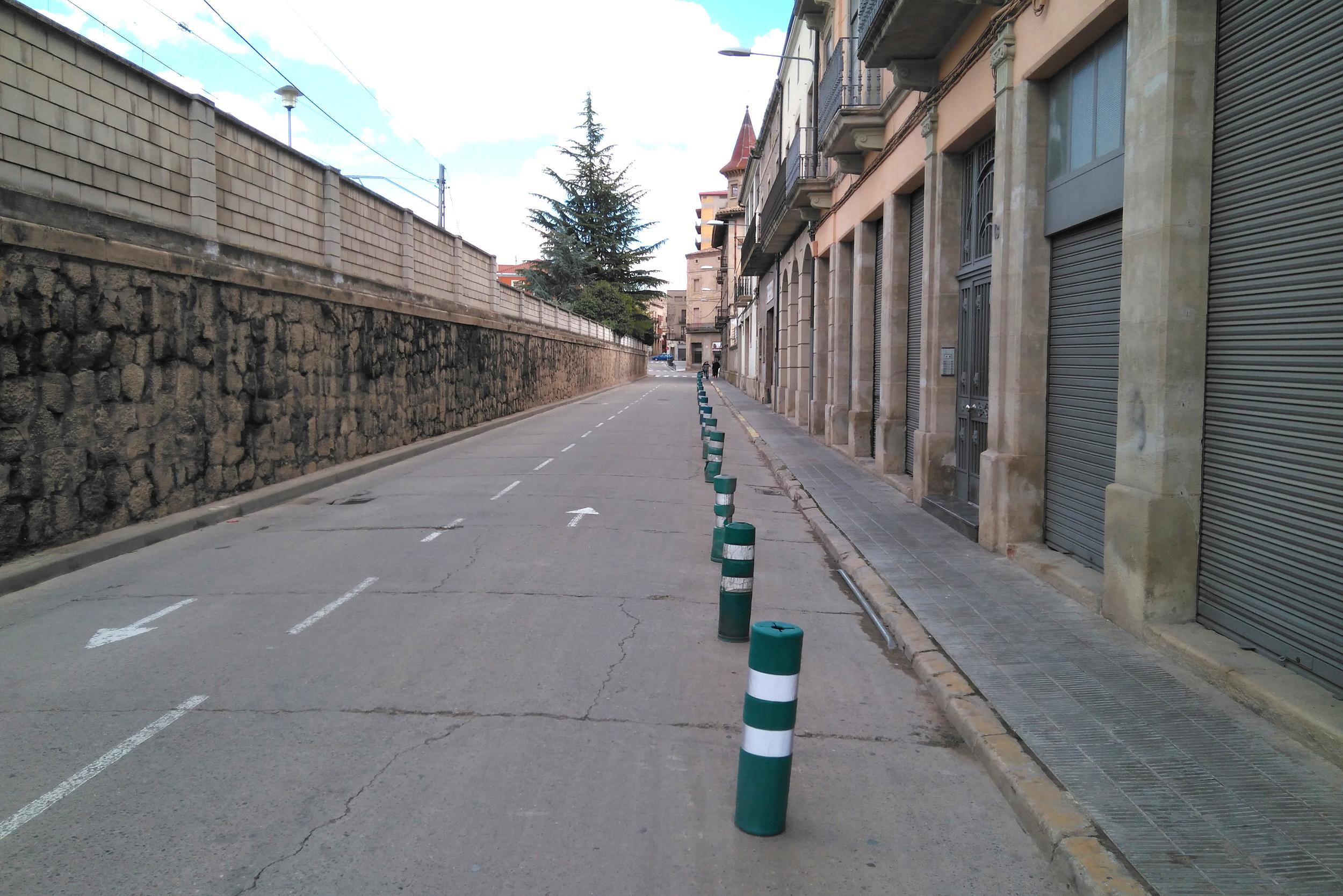 L'Ajuntament de Tàrrega aprova el projecte d'ampliació de la vorera sud del carrer del Segle XX