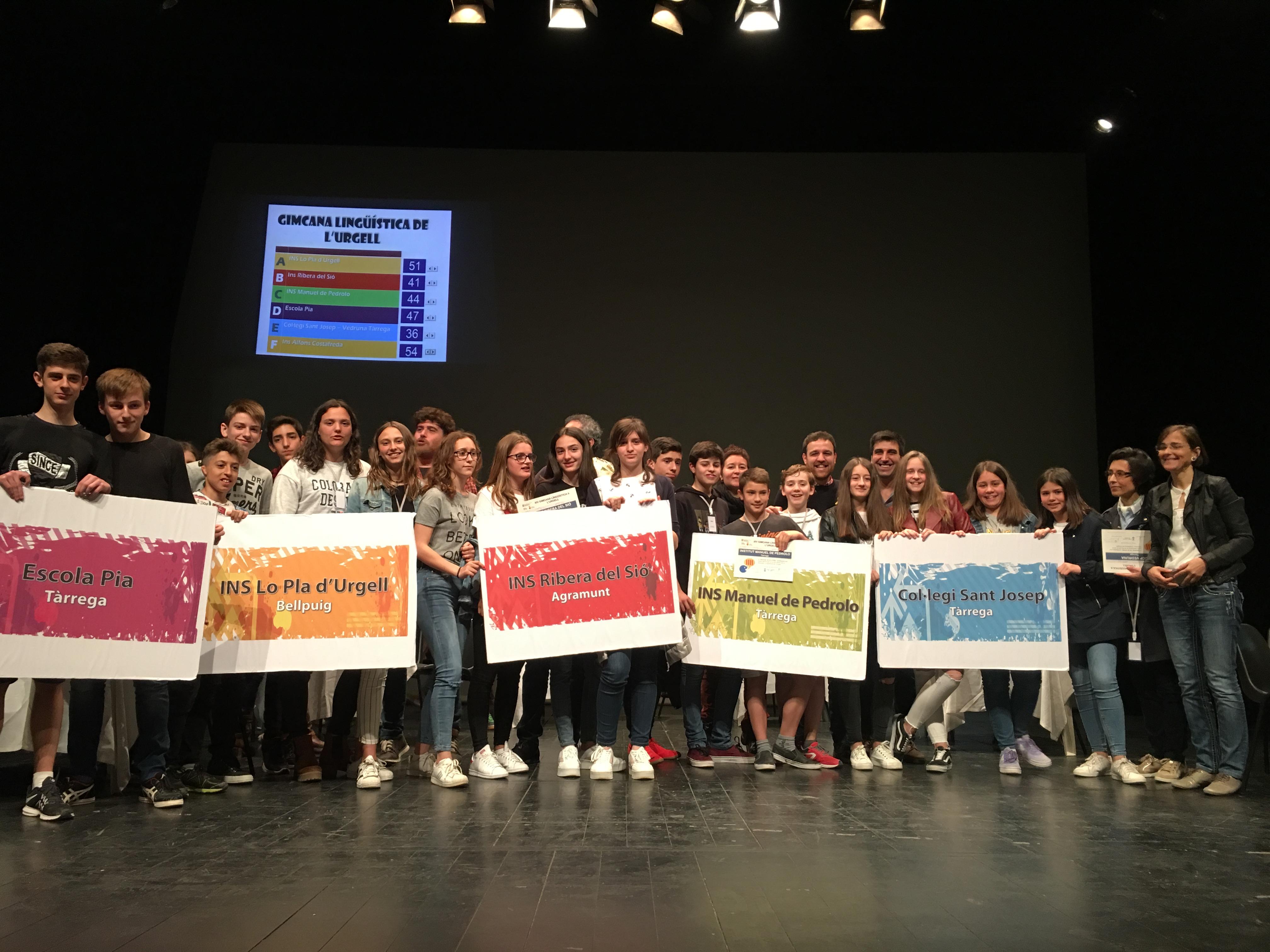 L'Institut  Alfons Costafreda de Tàrrega ha estat el guanyador  de la XIV edició de la  Gimcana Lingüística