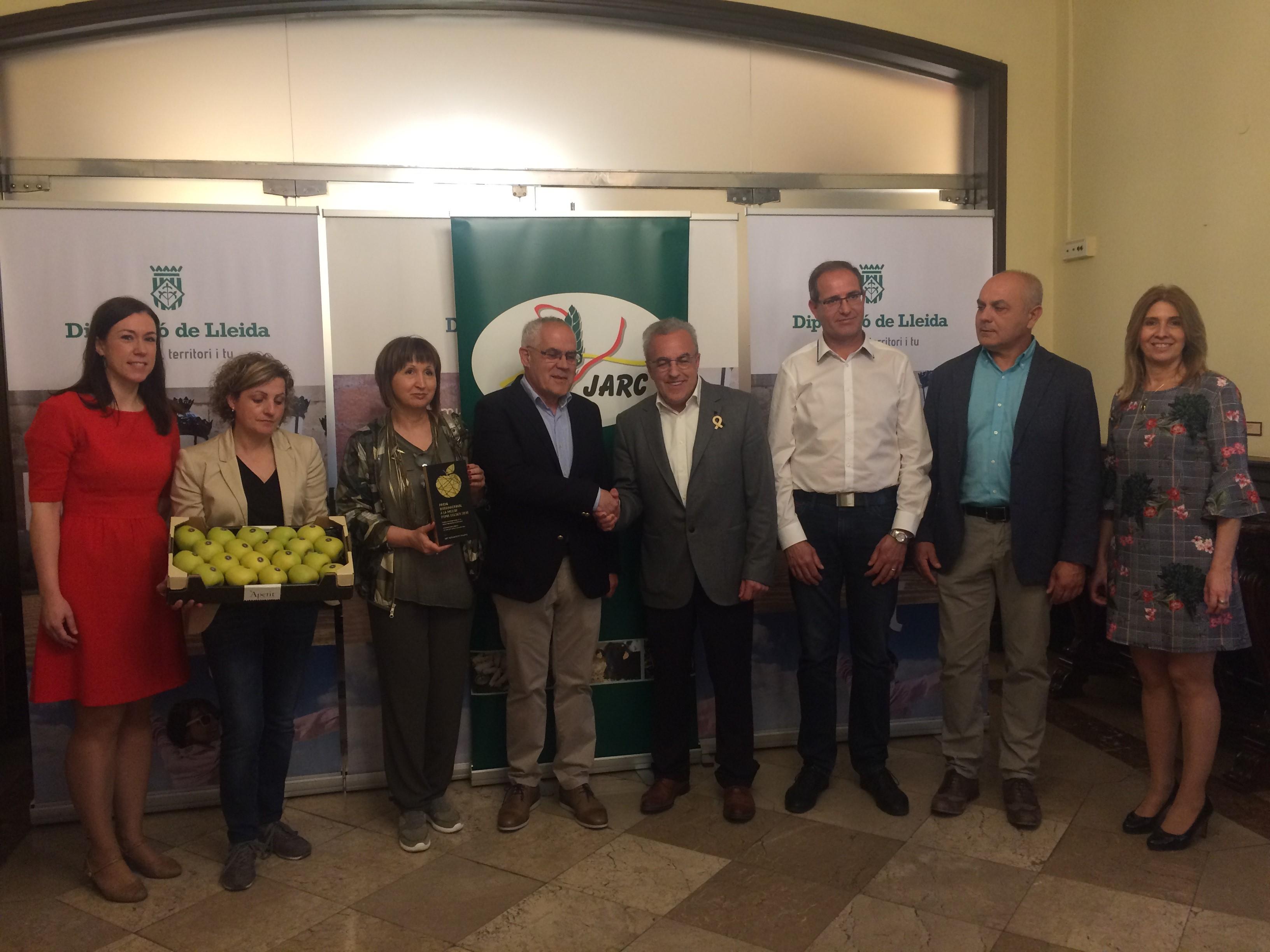 La SAT Apetit Fruits de Bellpuig guanya la segona edició del Premi Internacional Millor Poma Golden convocat per JARC