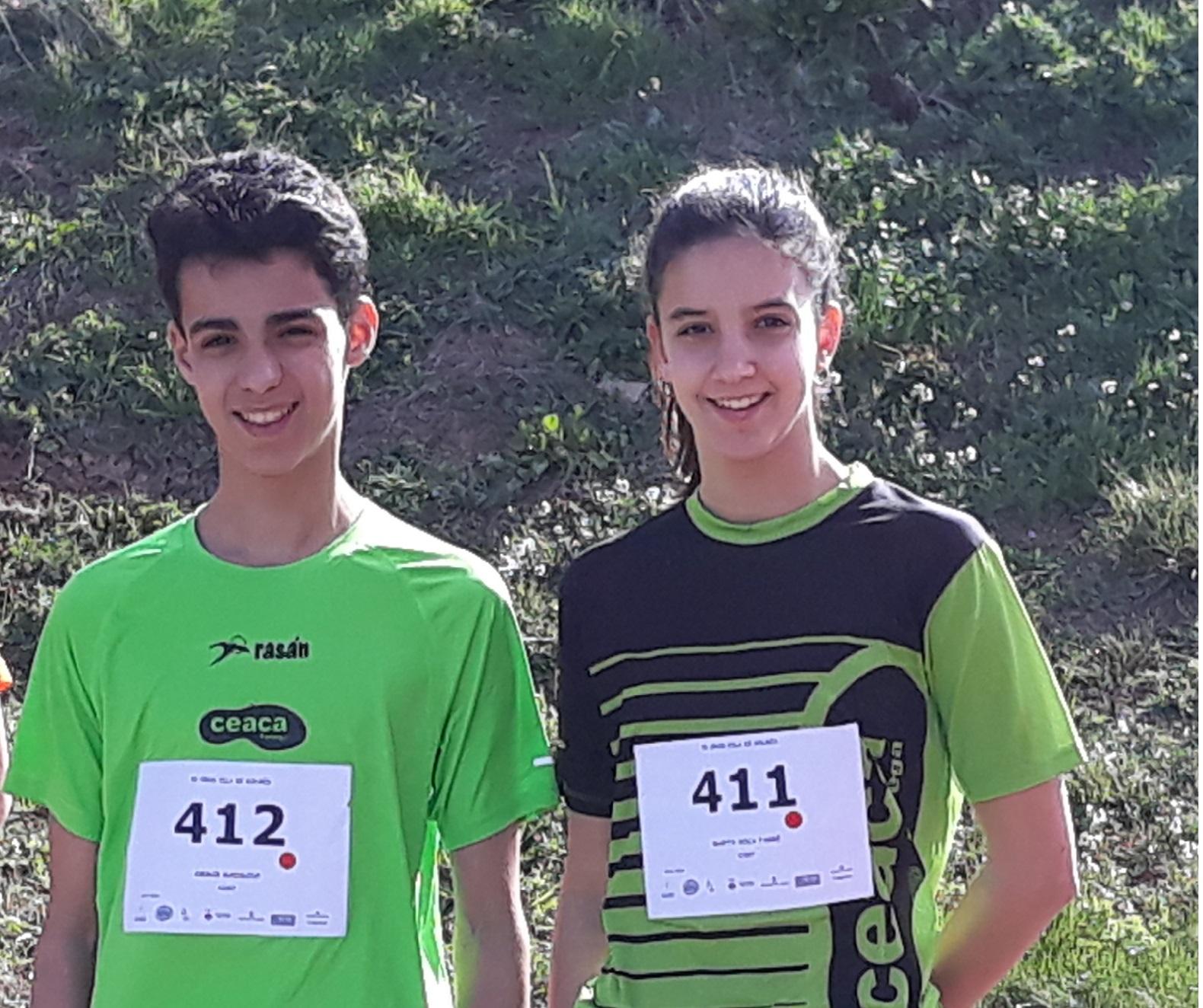 Marta Roca i Ammar Makhlouf, Campions provincials cadets del circuit Lleidatà de Cros, trofeu Diputació de Lleida.