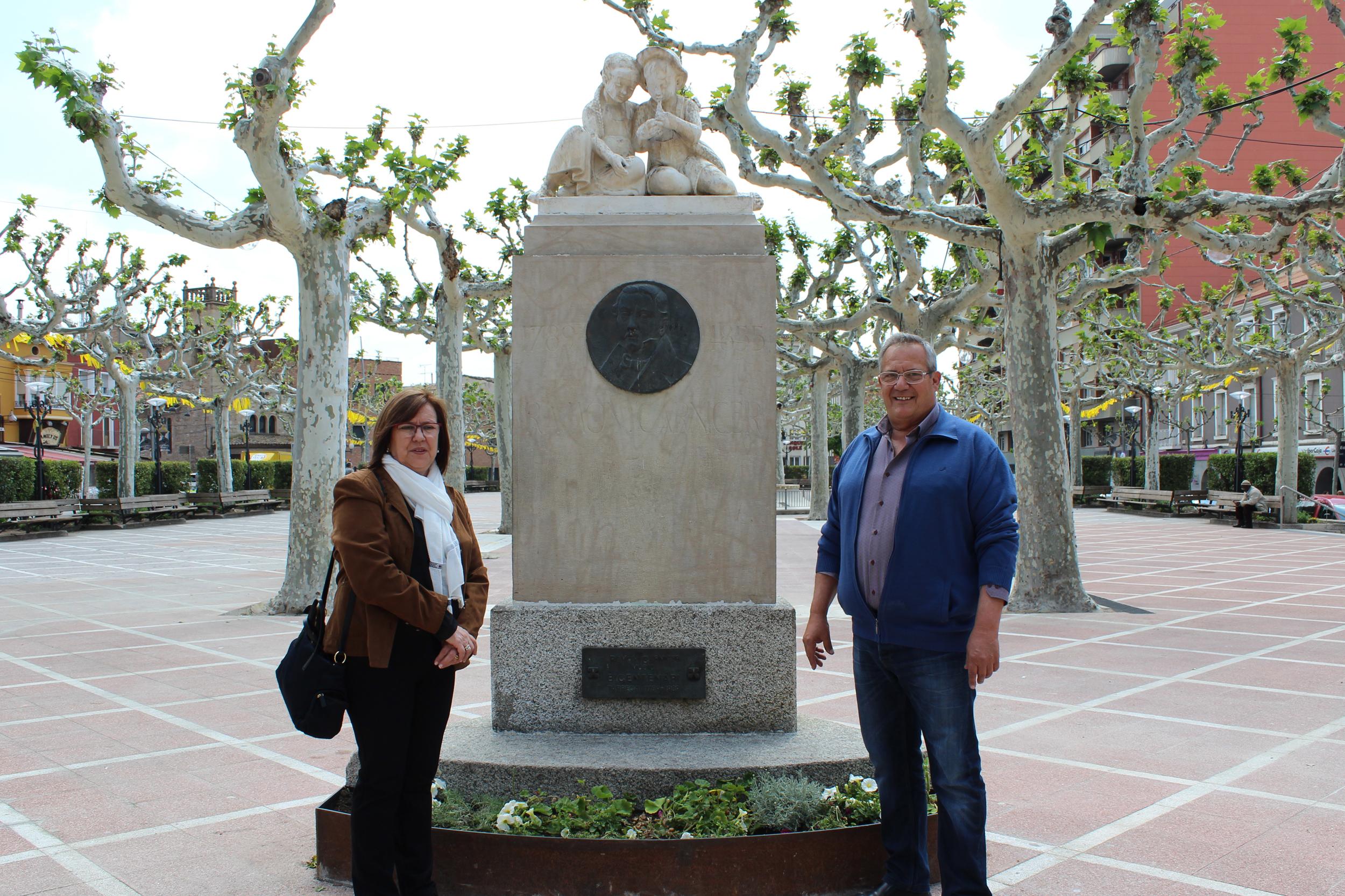 L'Ajuntament de Tàrrega restaura el monument dedicat al compositor local Ramon Carnicer, a la plaça del Carme