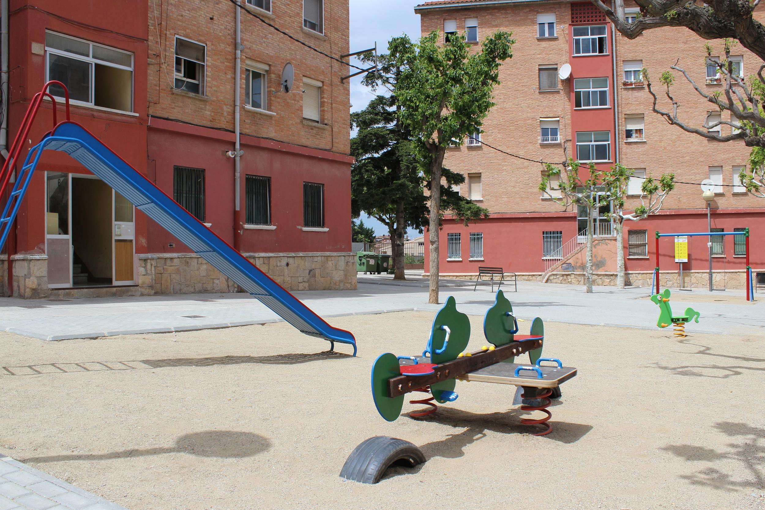 L'Ajuntament de Tàrrega finalitza les obres de rehabilitació de la plaça de Lluís Companys, al barri del Cor de Maria