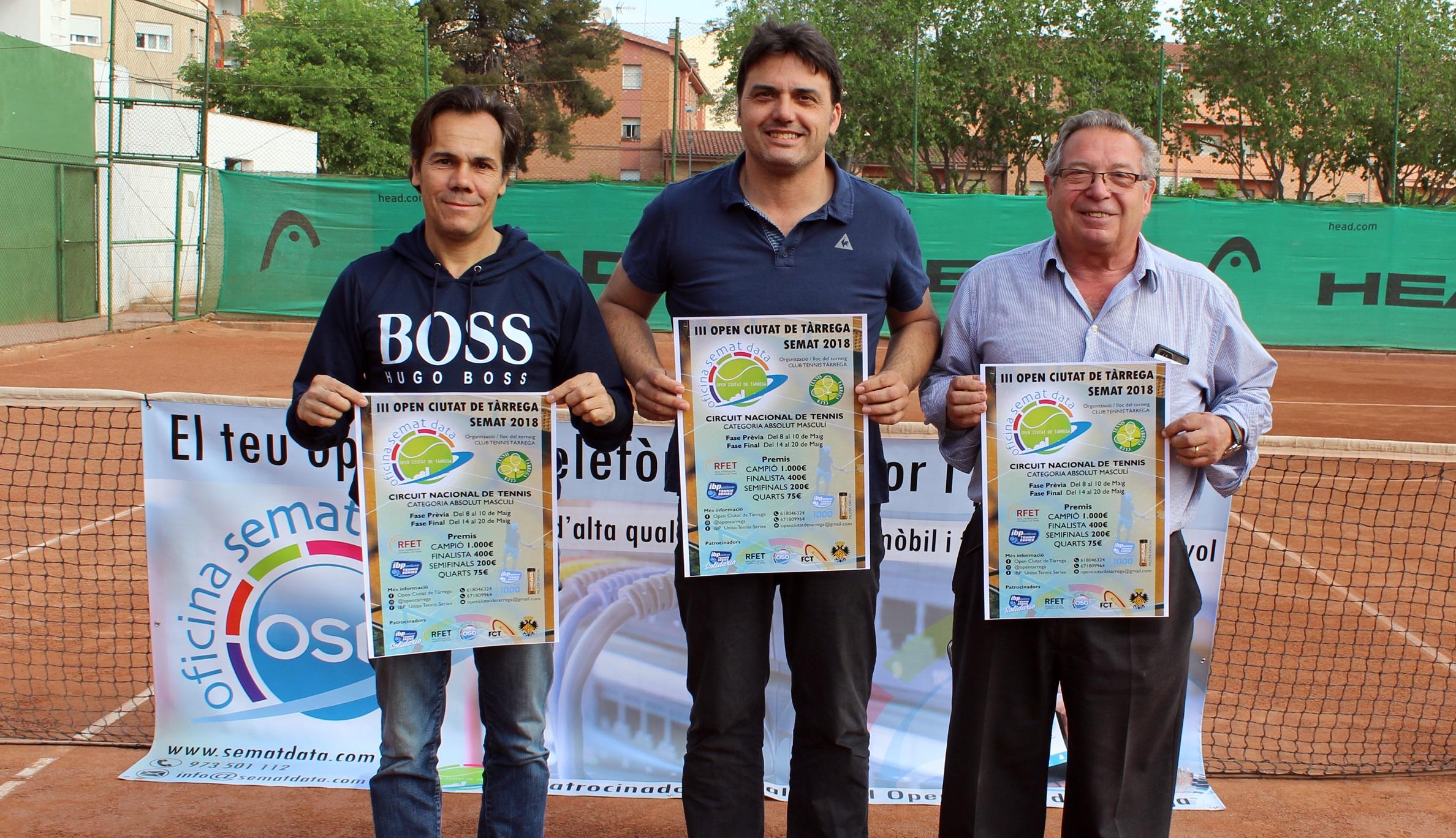 Tàrrega serà seu per primera vegada del Circuit Nacional de Tennis en la categoria absolut masculí, del 12 al 20 de maig