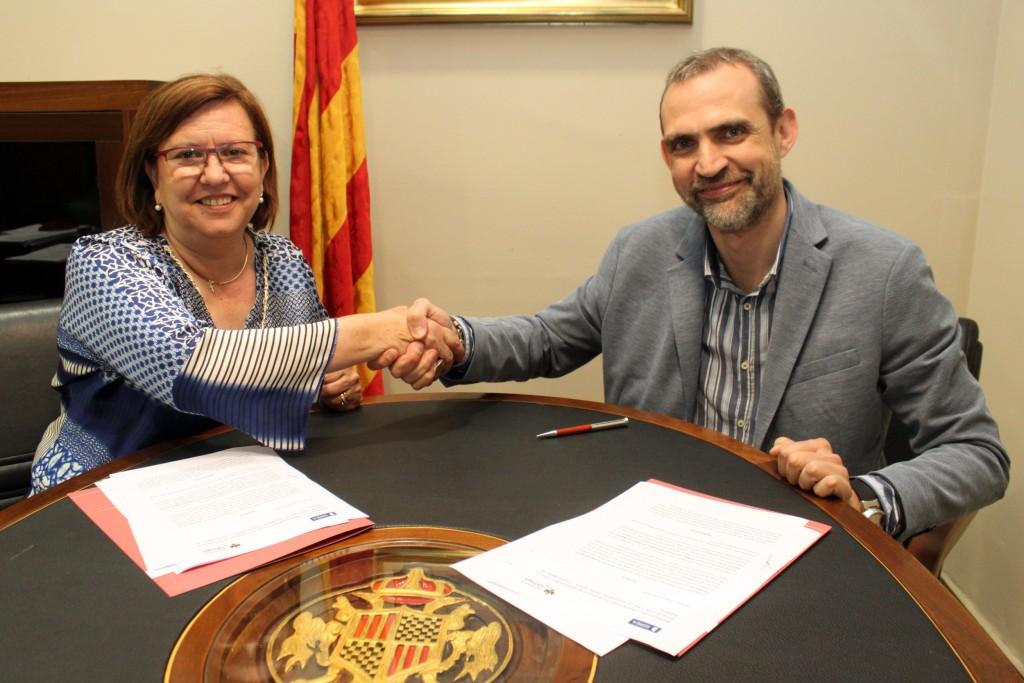 Signatura de l'acord amb Sorea