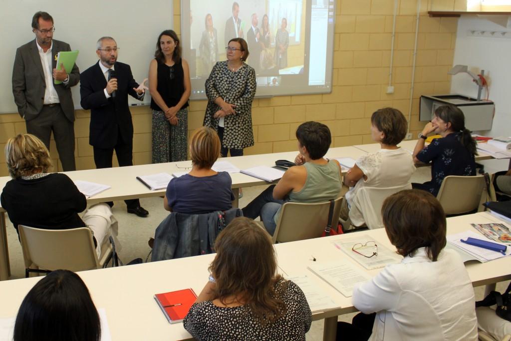 Benvinguda a l'alumnat per part del director del Centre de Formació Contínua de la UdL