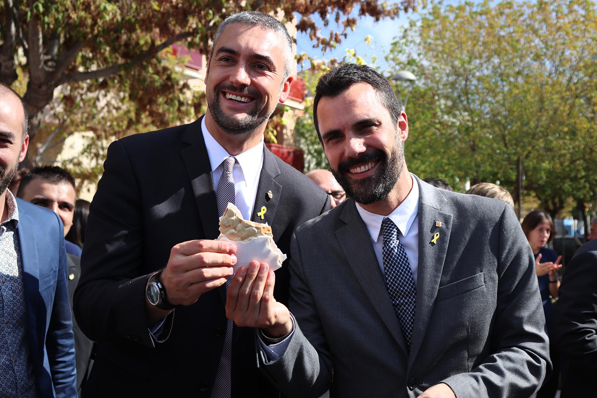 Torrent destaca la perseverança , determinació i futur d'Agramunt en la inauguració de la Fira del Torró i la Xocolata a la Pedra