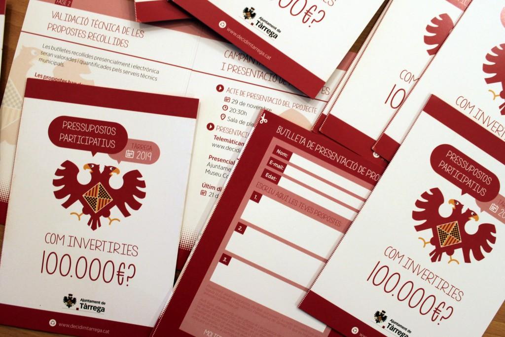 Fulletons informatius dels pressupostos participatius