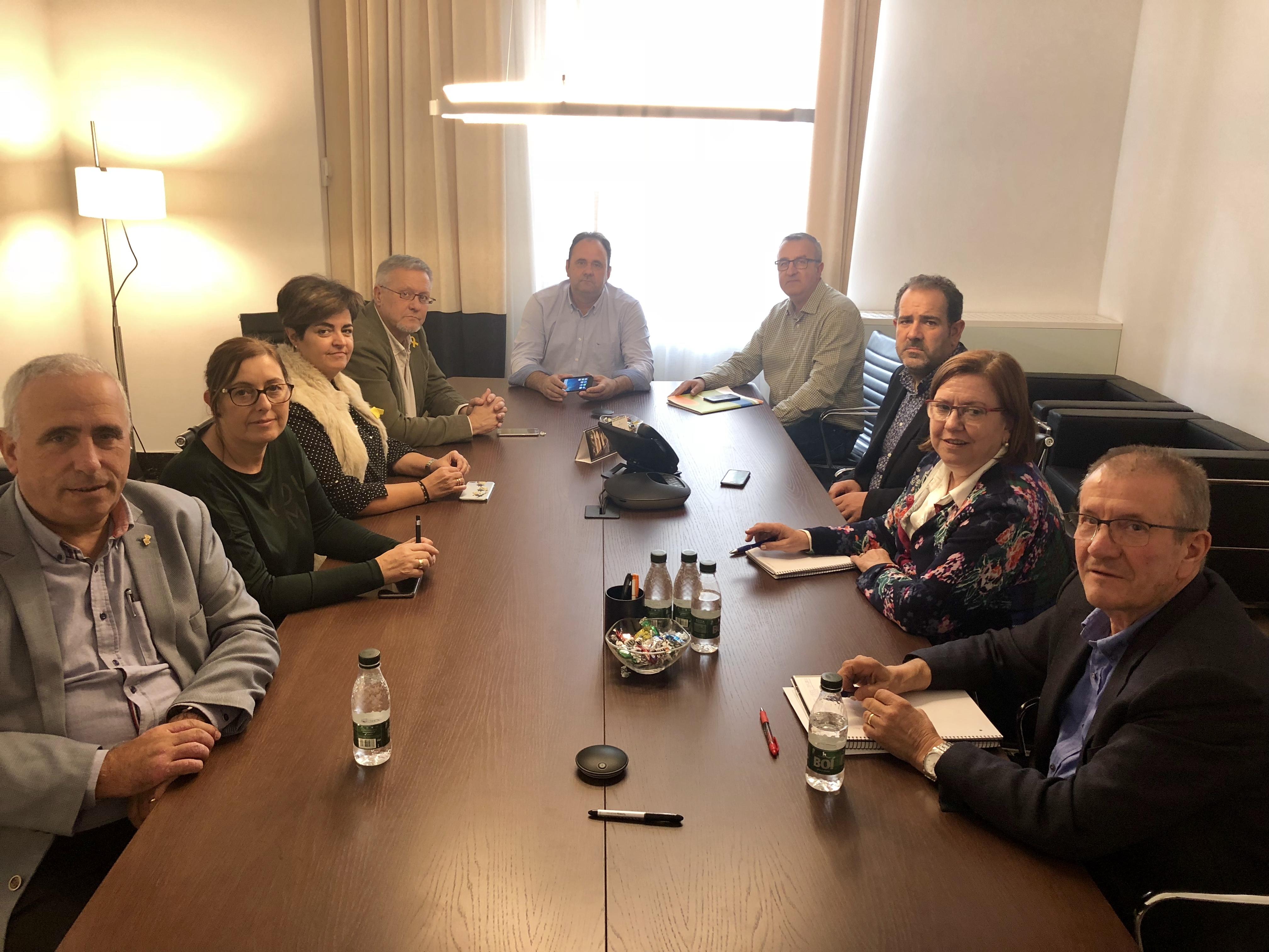 Perelló ofereix col·laboració als consells comarcals de la plana perquè puguin presentar una proposta conjunta al nou FEDER