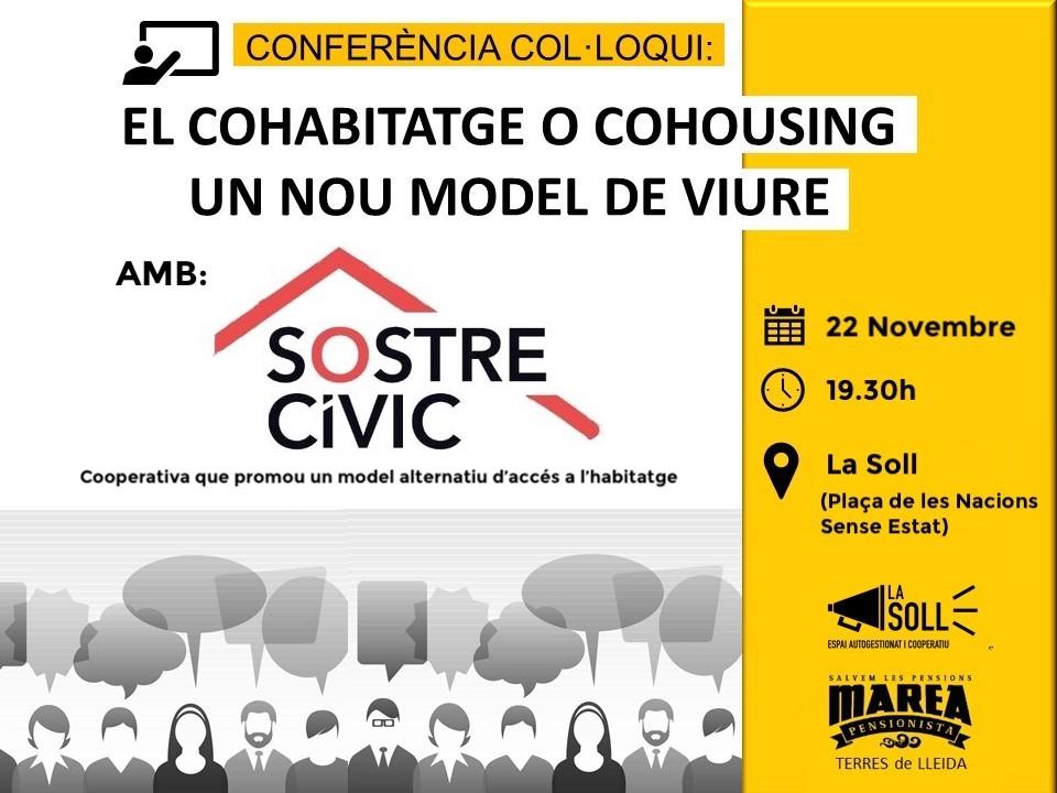 La Soll i Marea Pensionista organitzen una xerrada sobre Cohabitage a càrrec de Sostre Cívic