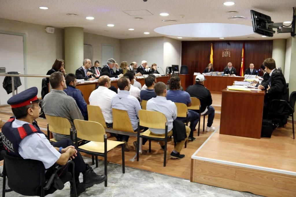 Pla general de l'Audiència de Lleida durant el primer dia del judici a 15 acusats de dos assalts violents a Gàver, Estaràs (Segarra). Imatge del 16 d'octubre de 2018. (Horitzontal)