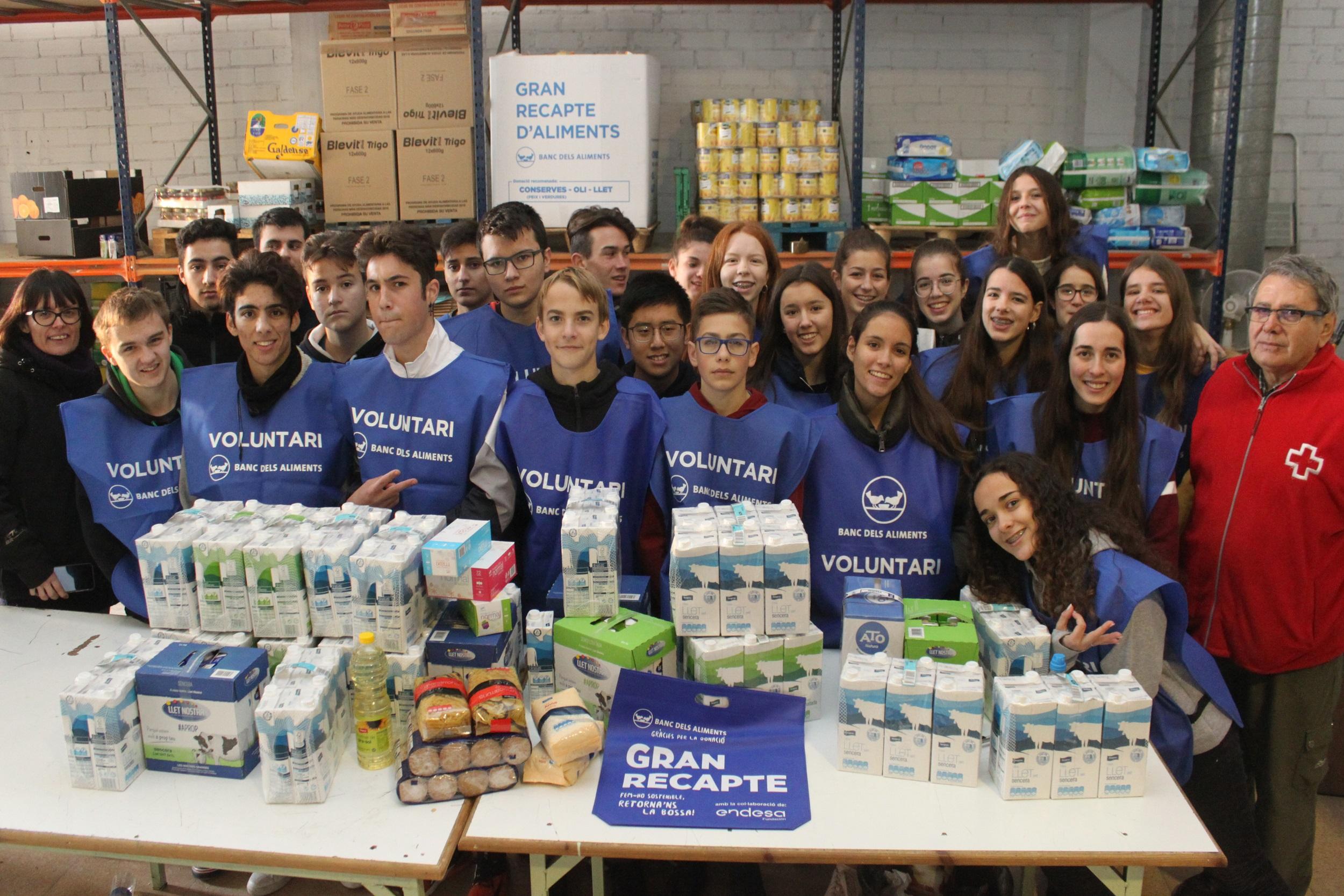 Tàrrega recull 18.300 quilos d'aliments i productes solidaris durant el Gran Recapte