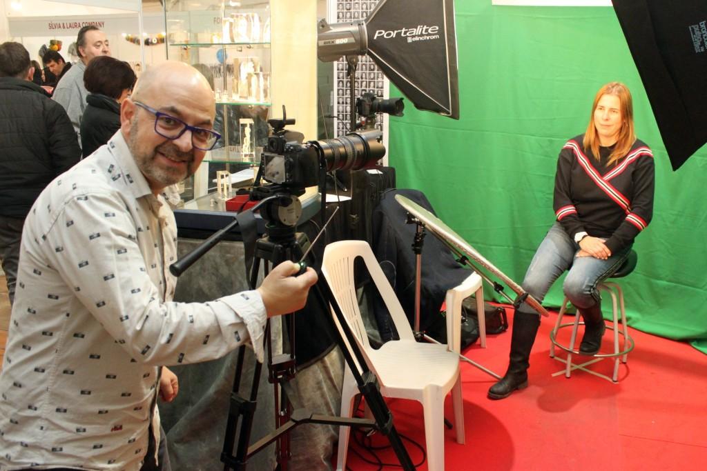 El fotògraf Jaume Solé, a la 20a Fira d'Artistes de Tàrrega
