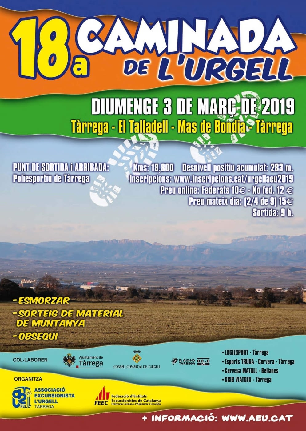 Tot a punt per la divuitena Caminada Popular de l'Urgell