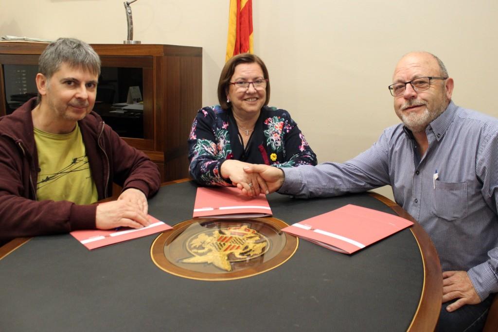 Signatura de l'acord entre Tàrrega i Vallbona de les Monges (2)
