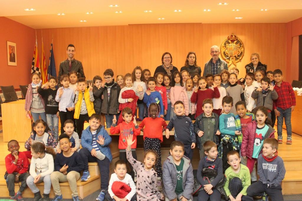 Visita d'alumnes del Sant Josep - Vedruna a la Casa Consistorial de Tàrrega