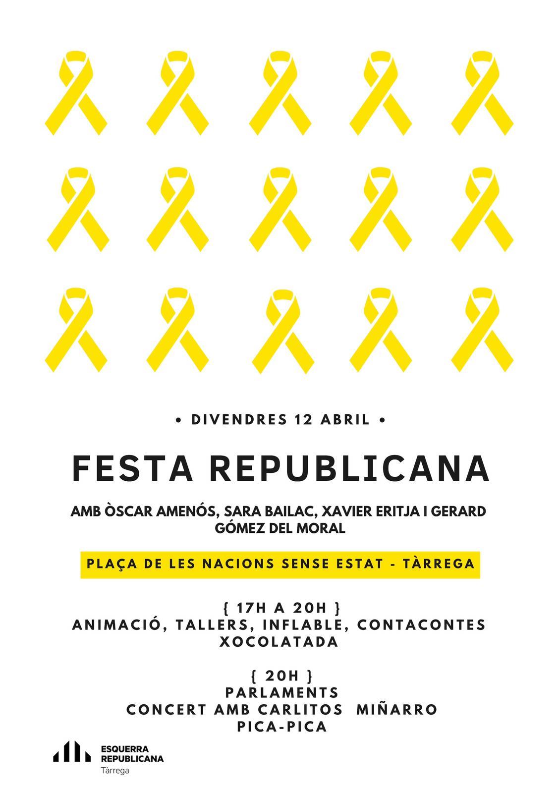 Una festa republicana donarà el tret d'inici a la primavera electoral a Tàrrega