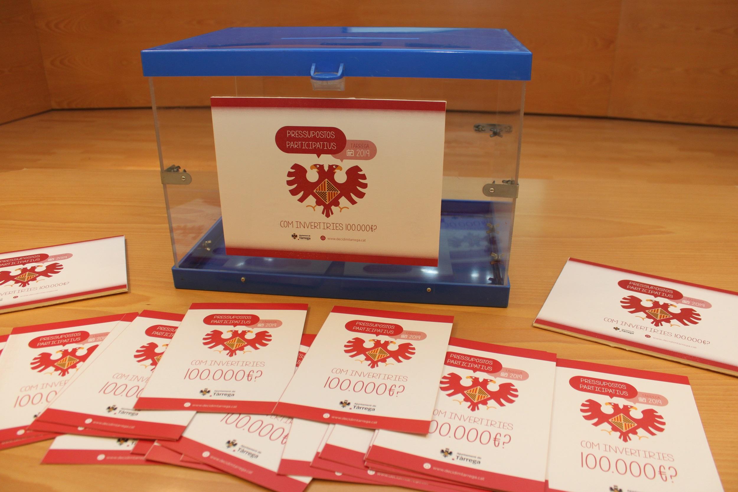 L'Ajuntament de Tàrrega preveu continuar el procés de pressupostos participatius, que ha rebut 350 aportacions, després de les eleccions municipals