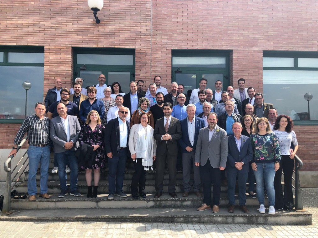 190507 Foto El conseller Jordi Puigneró es reuneix amb alcaldes i caps de llista de Junts per Catalunya (2)