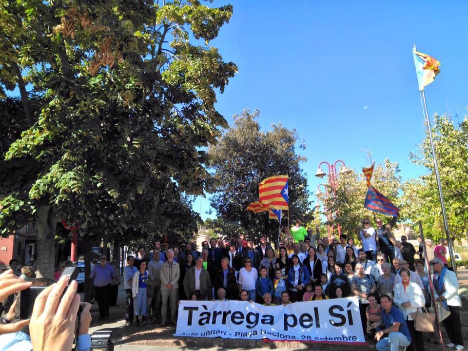 Junts per Tàrrega reclama el compromís institucional amb el mandat de l'1 d'Octubre