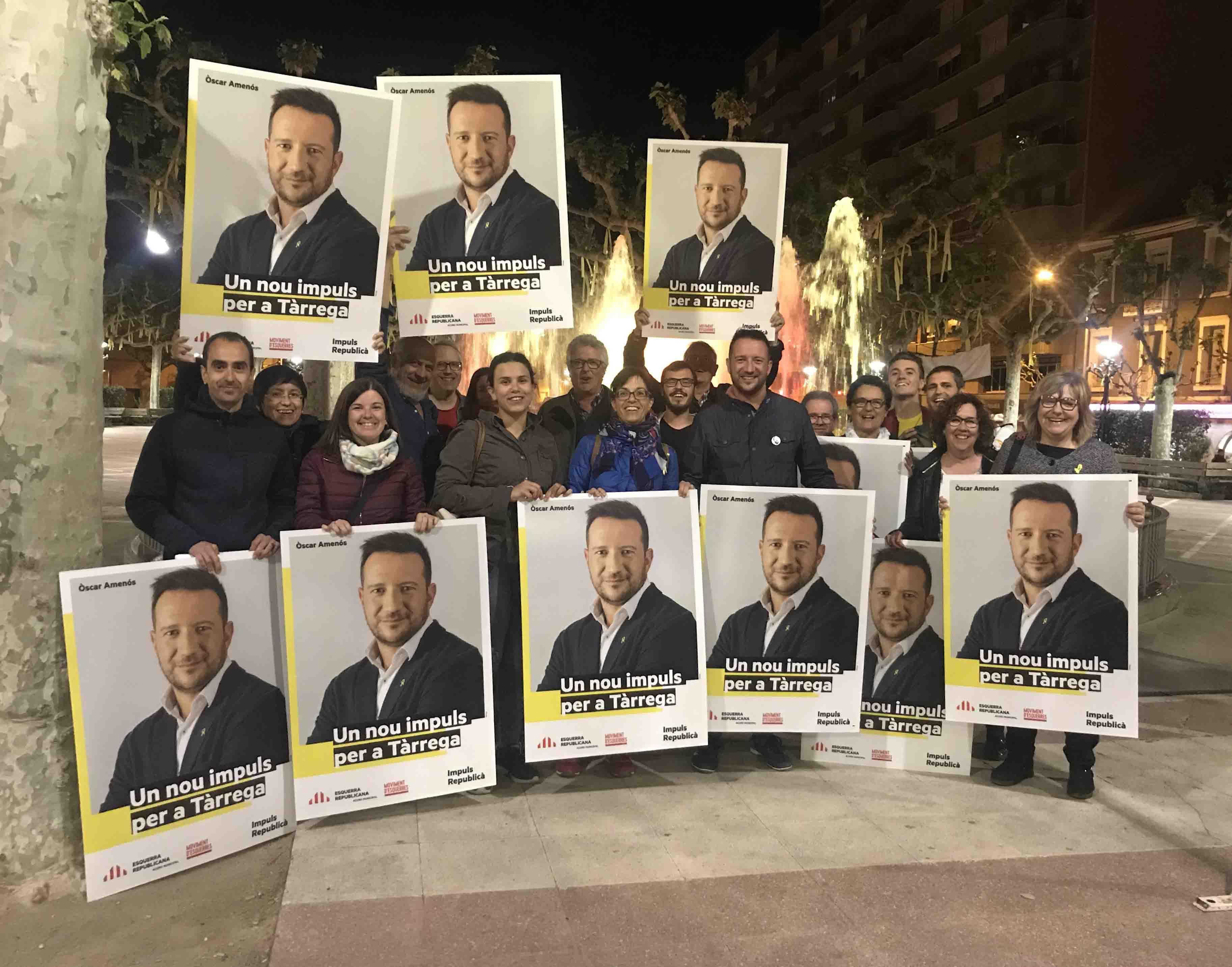 ERC-MES comença la campanya electoral amb la força d'haver guanyat les eleccions estatals a Tàrrega