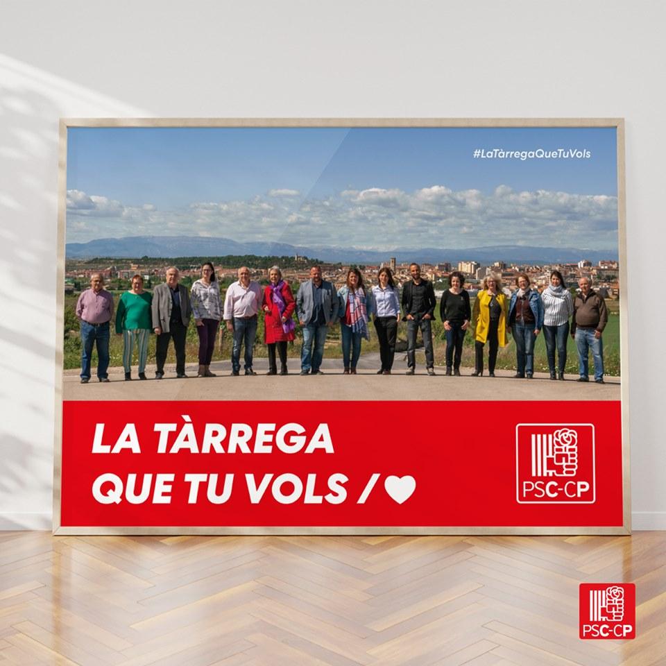 El PSC de Tàrrega presenta els cartells per les municipals
