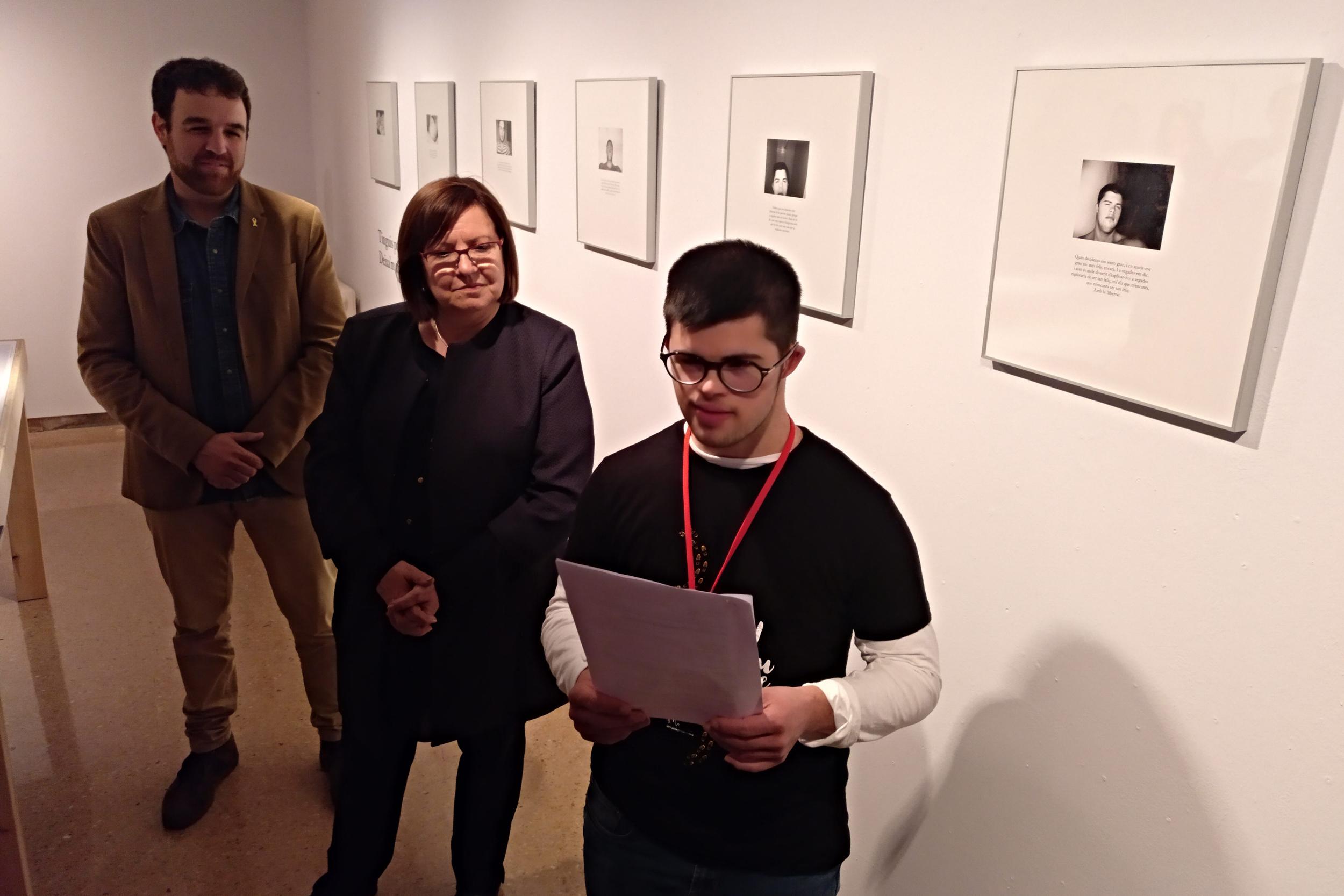 Treball artístic de Quim Vilamajó, un noi amb síndrome de Down que reivindica els valors de les persones amb altres capacitats