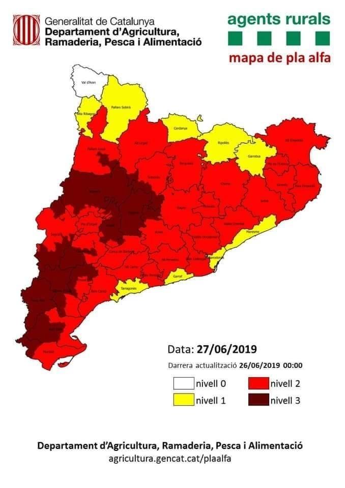 S'activa a l'Urgell el nivell 3 del Pla Alfa per l'onada de calor
